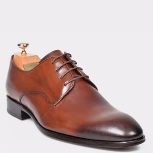 Pantofi LE COLONEL maro, 32765, din piele naturala