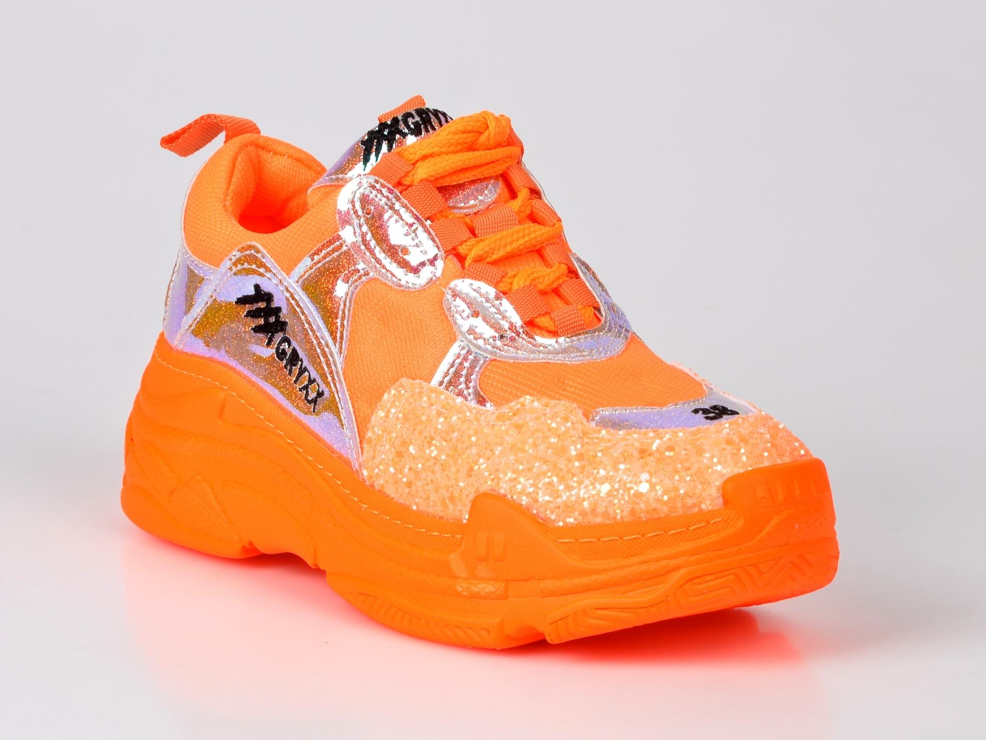 Pantofi sport GRYXX portocalii, din piele ecologica imagine