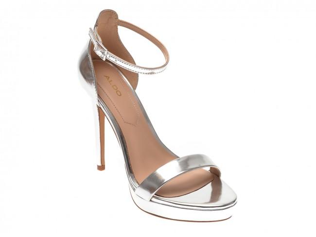 vânzare stil de moda alta sansa Sandale ALDO argintii, Madalene040, din piele ecologica | TEZYO.ro