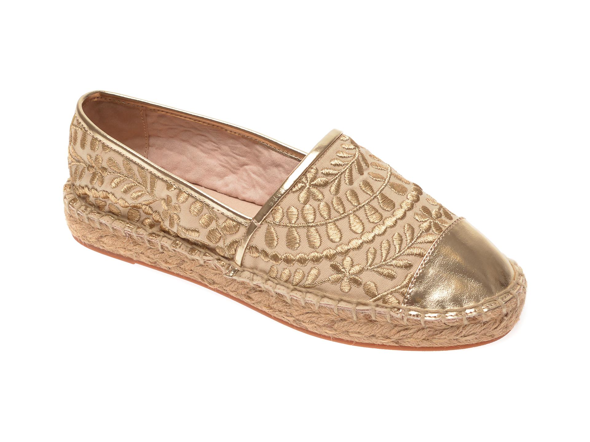 Espadrile ALDO aurii, Cinco710, din material textil