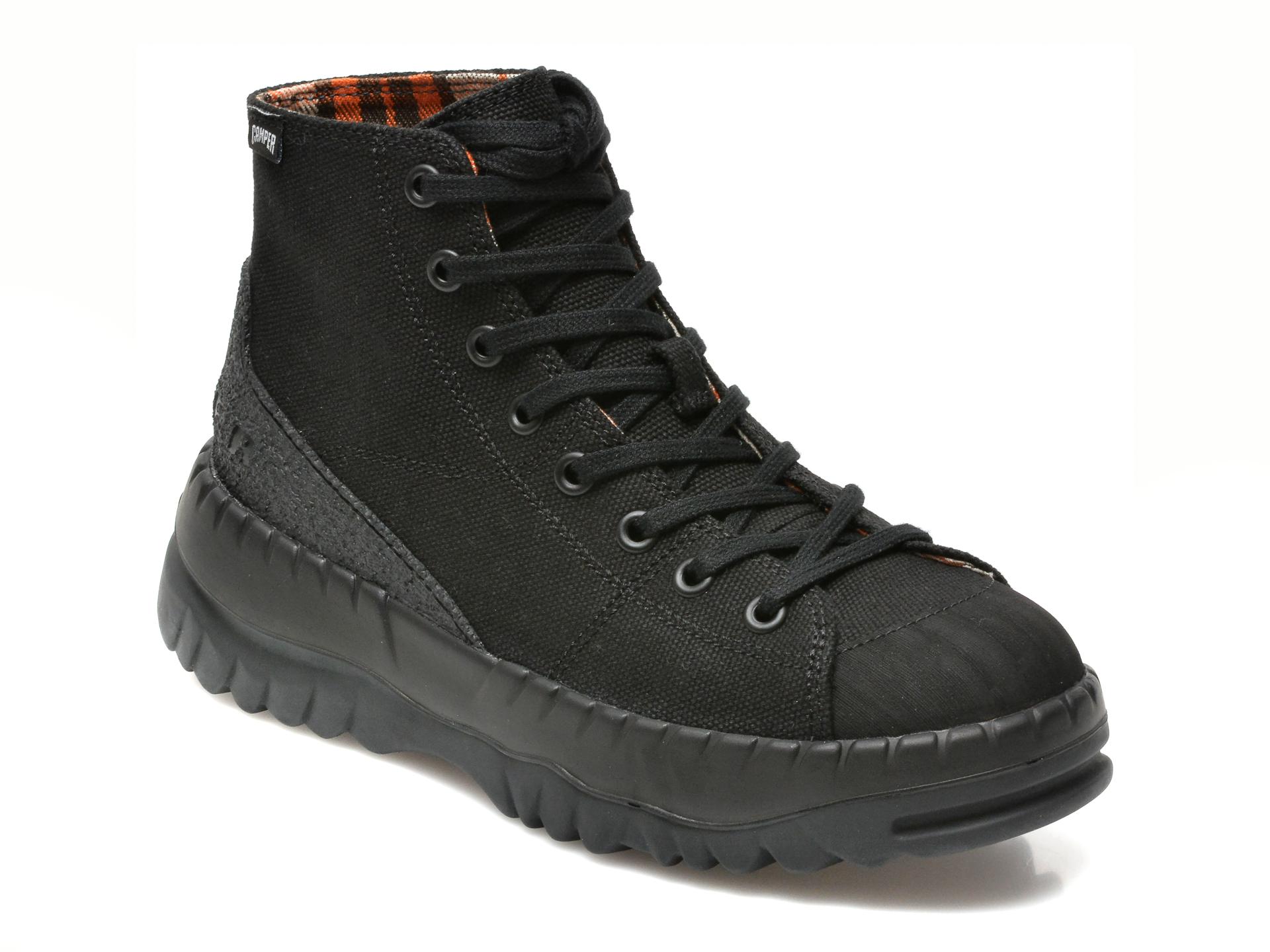 Ghete Camper Negre, K400608, Din Material Textil