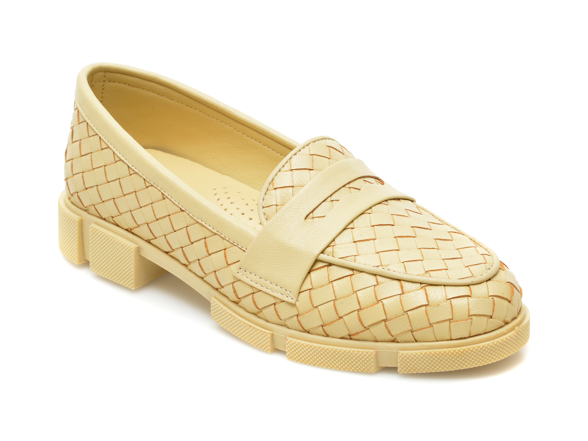 Pantofi MOLLY BESSA galbeni, MN108, din piele naturala