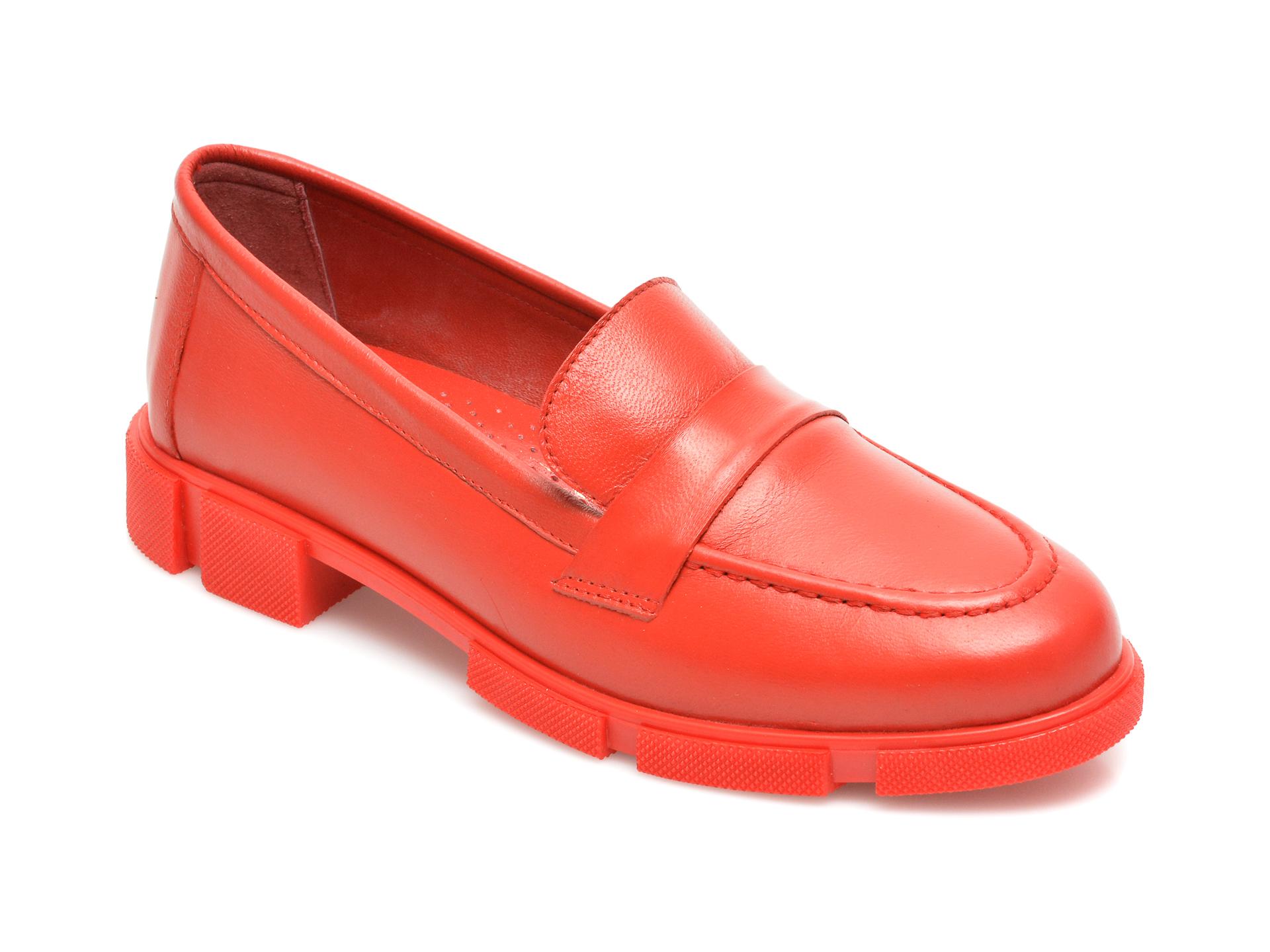 Pantofi MOLLY BESSA rosii, MN122, din piele naturala