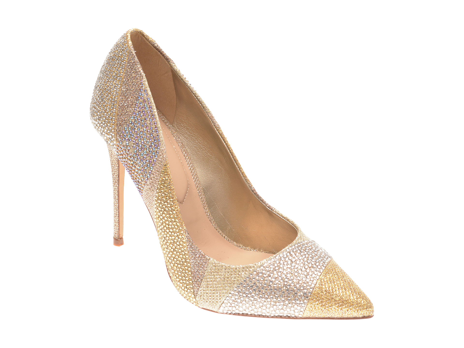 Pantofi ALDO aurii, Kalimna711, din material textil imagine