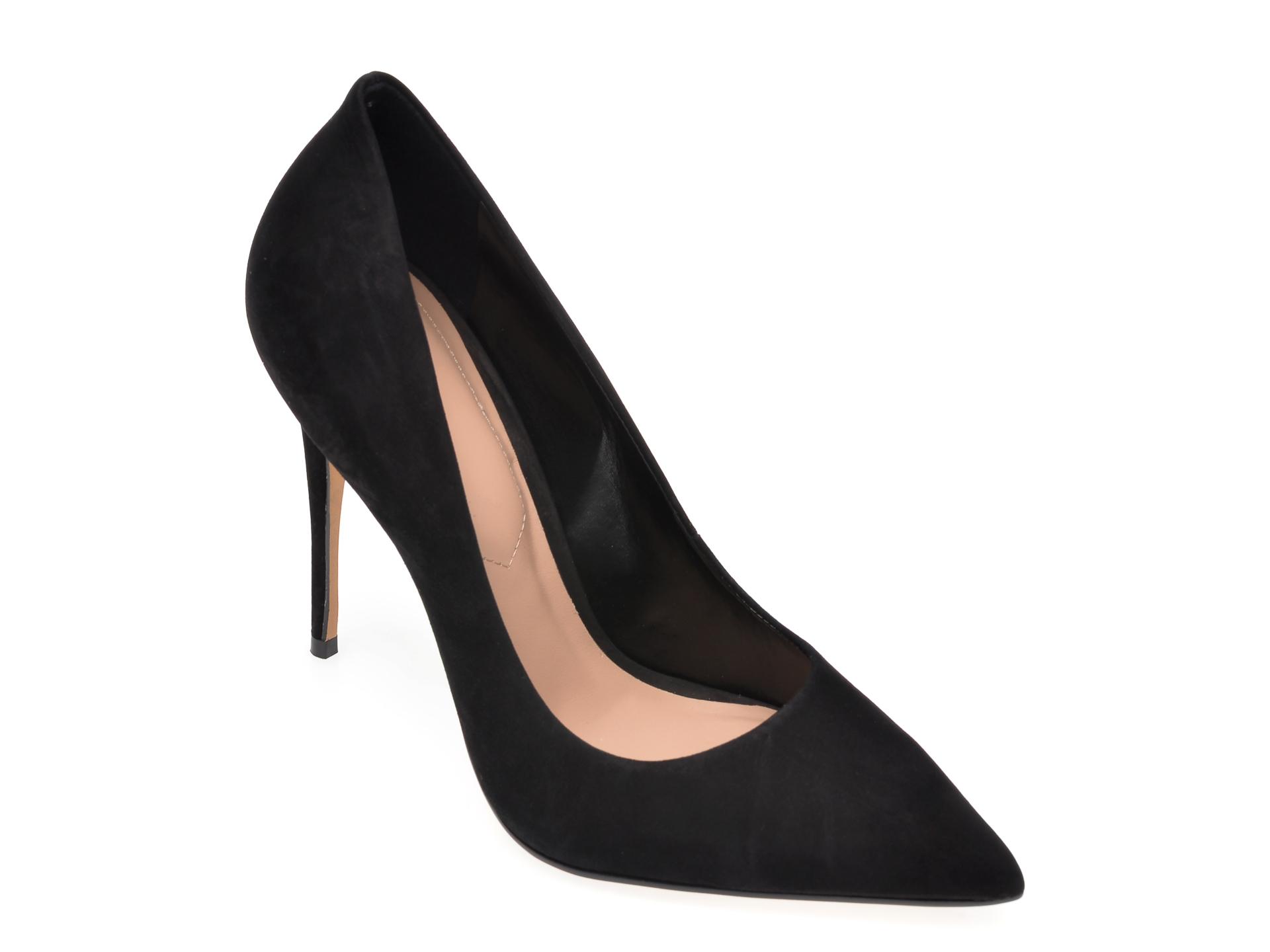 Pantofi ALDO negri, Cassedy001, din nabuc imagine