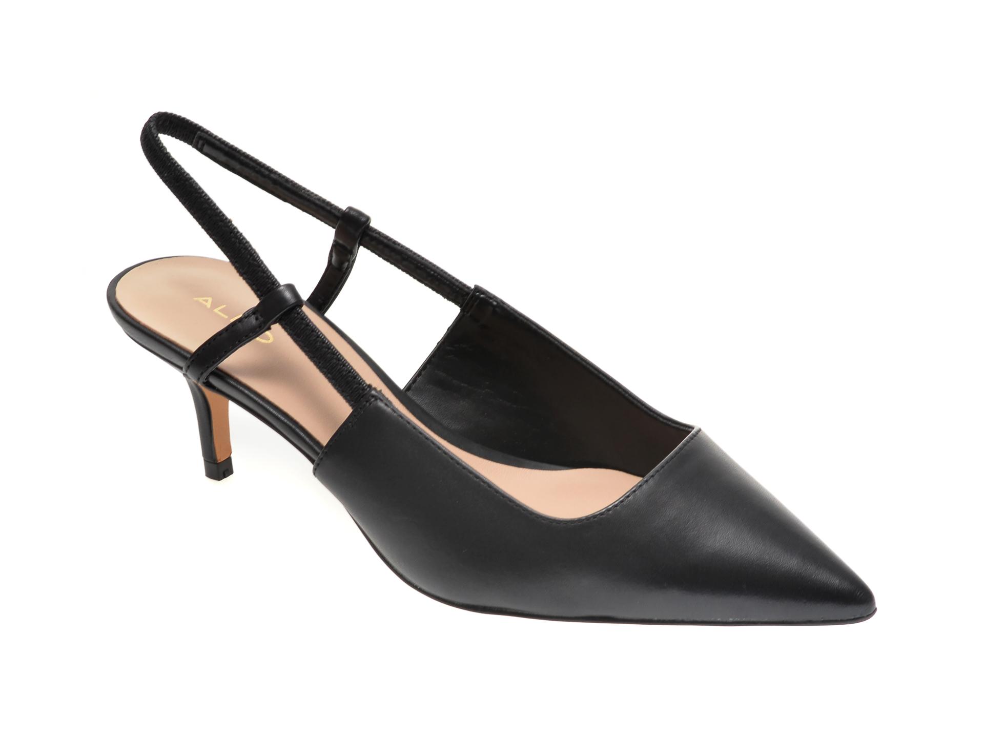 Pantofi ALDO negri, Melica001, din piele naturala imagine