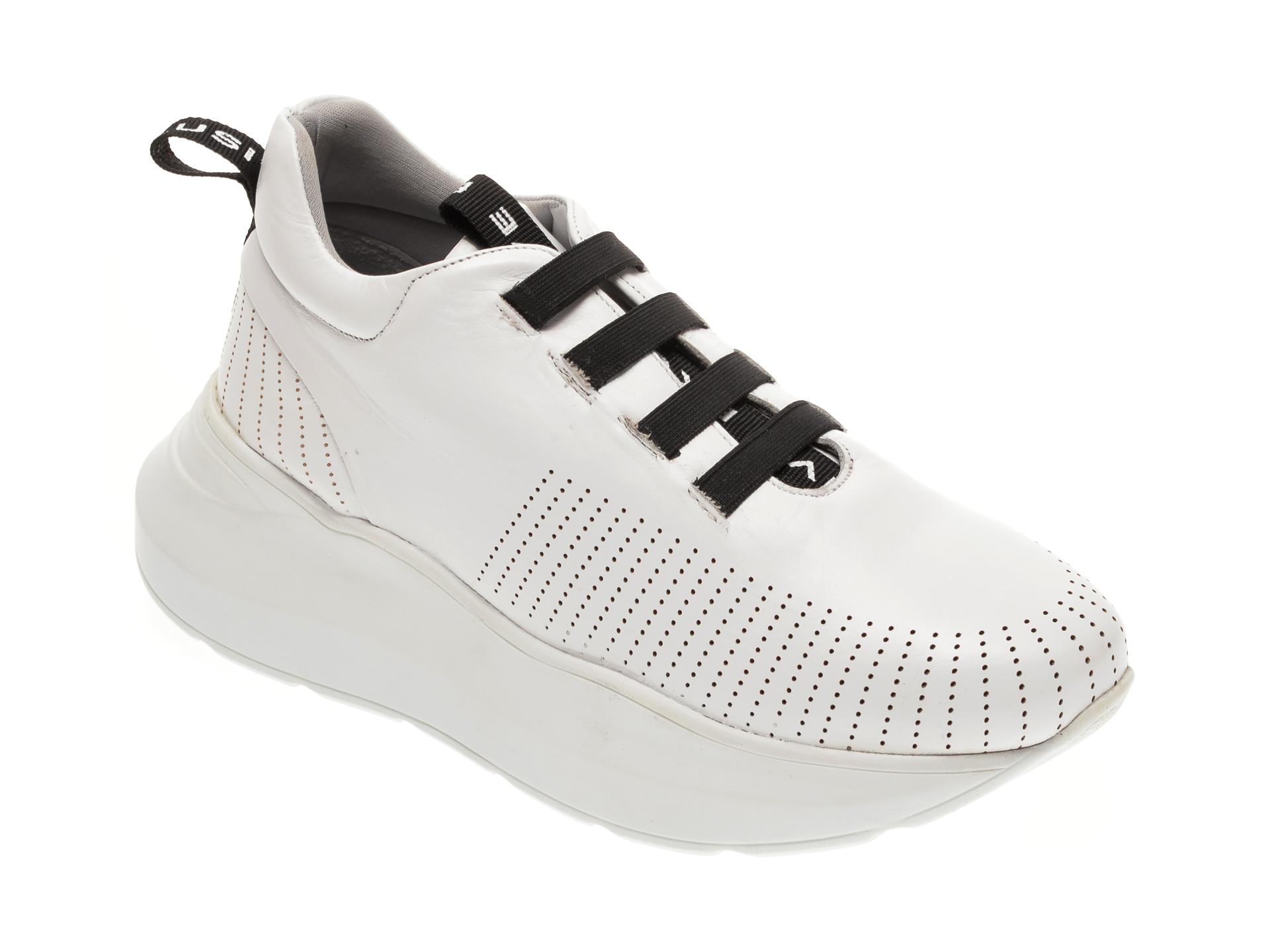 Pantofi BABOOS albi, 1302, din piele naturala imagine