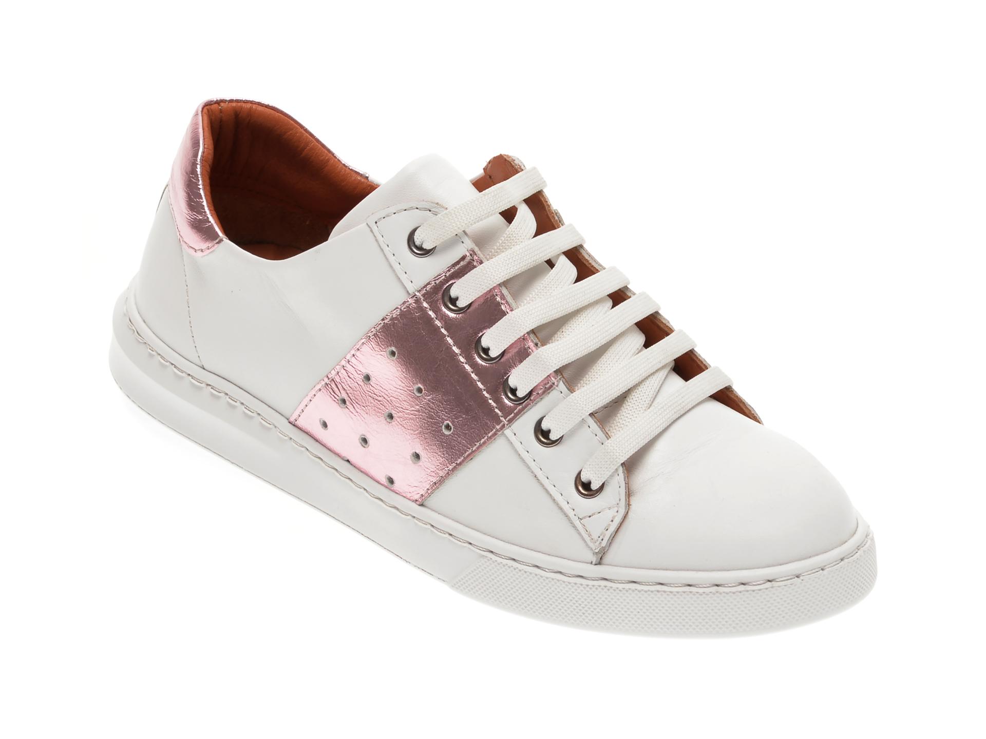 Pantofi BABOOS albi, 2303, din piele naturala imagine