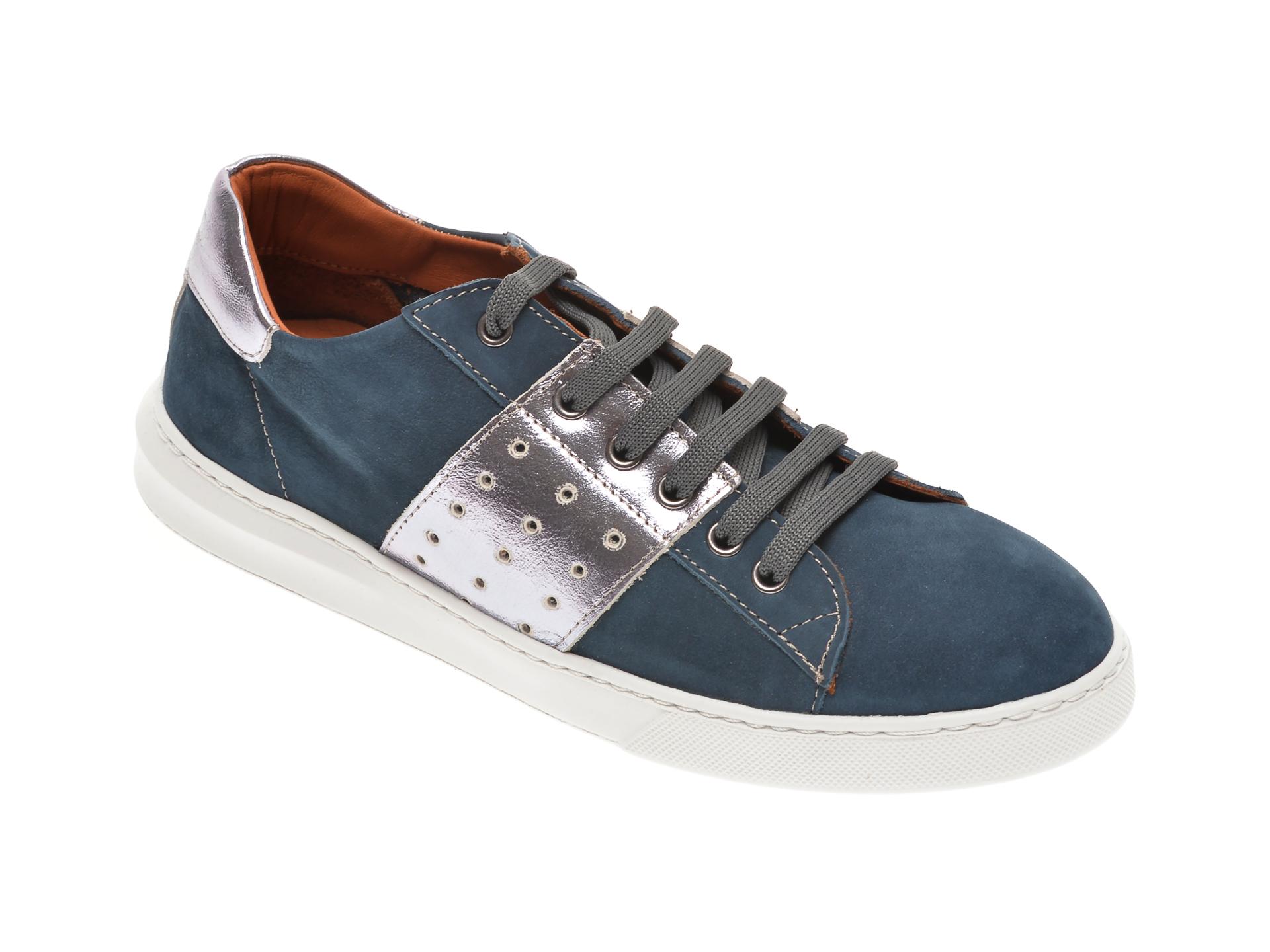 Pantofi BABOOS bleumarin, 2303, din piele naturala imagine