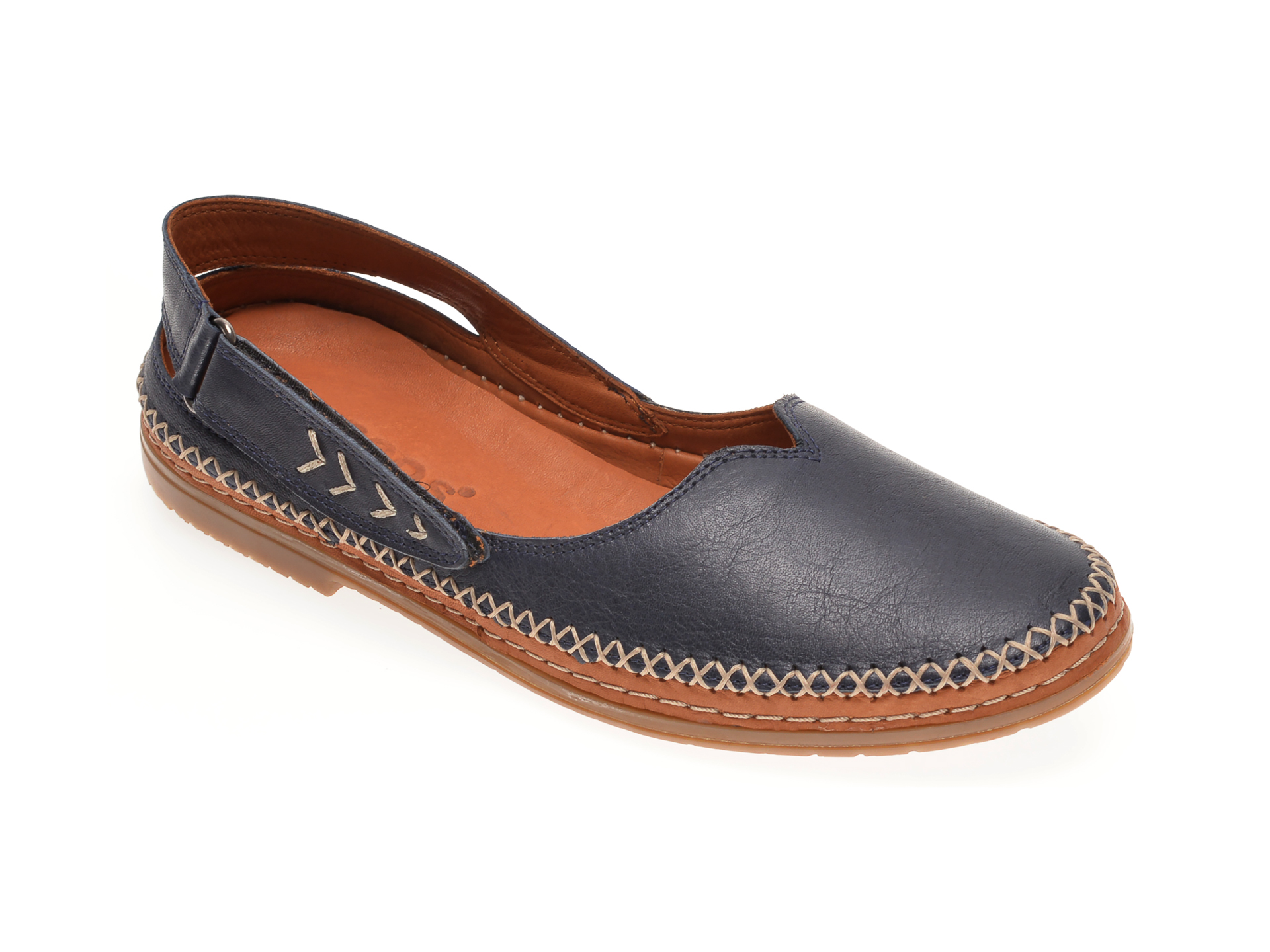 Pantofi BABOOS bleumarin, N01, din piele naturala imagine