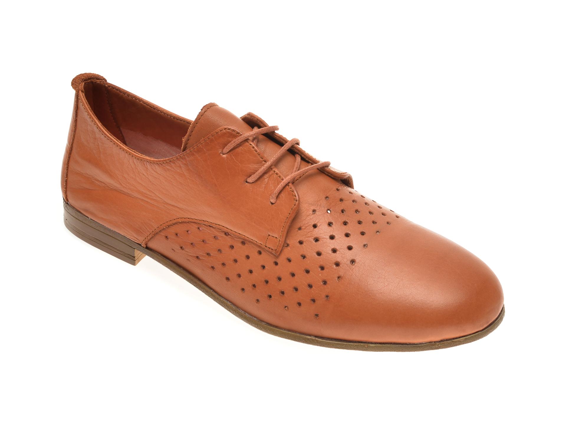 Pantofi BABOOS maro, 1106, din piele naturala imagine