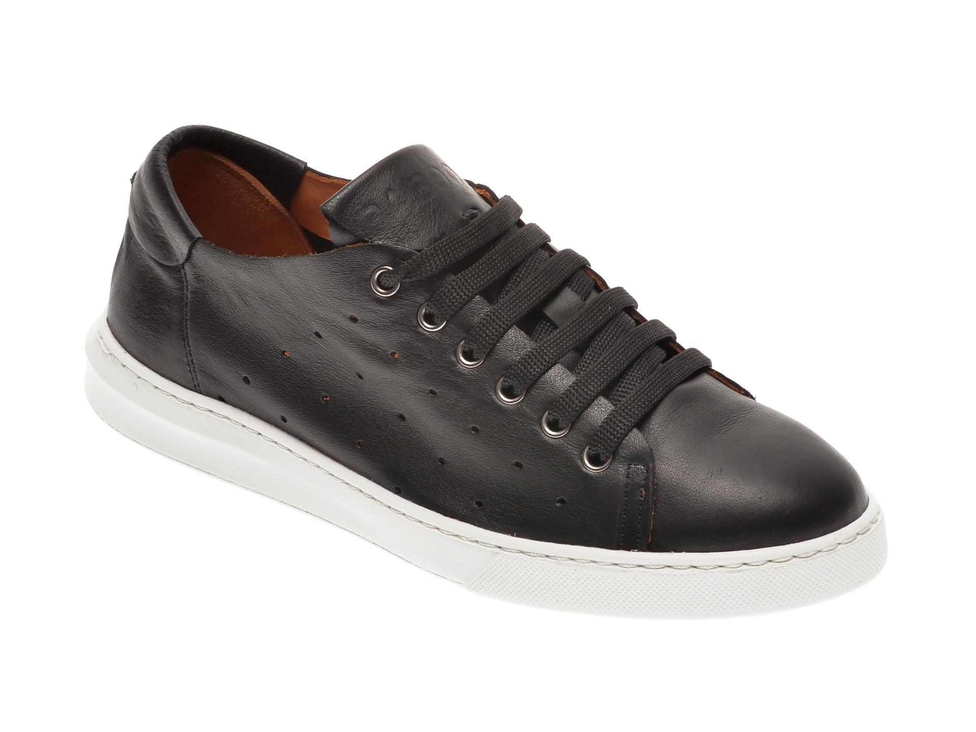 Pantofi BABOOS negri, 2301, din piele naturala imagine