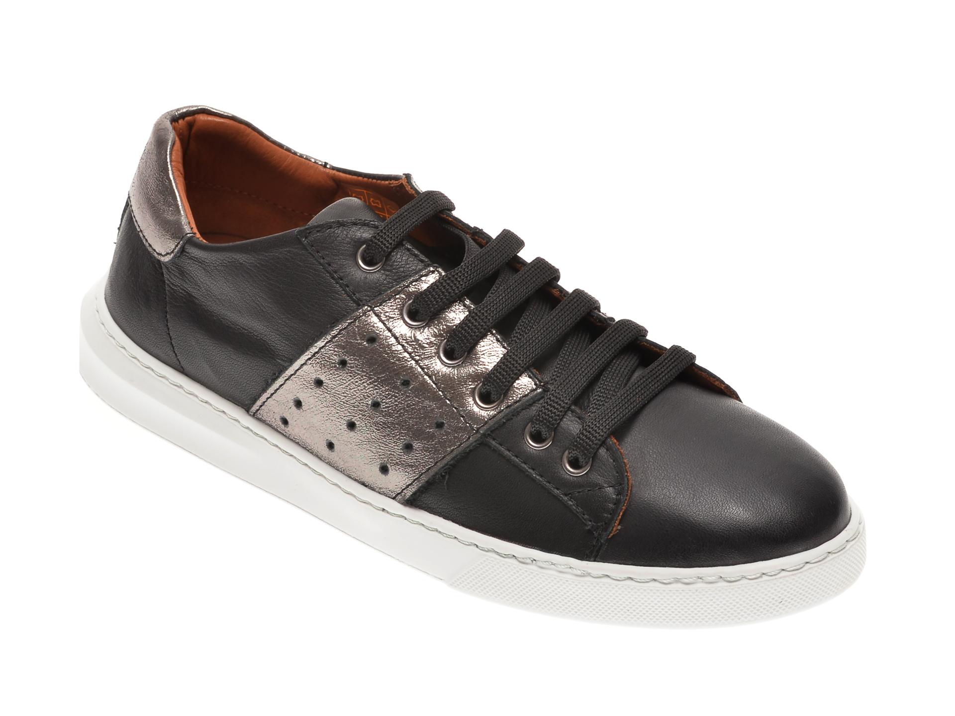 Pantofi BABOOS negri, 2303, din piele naturala imagine