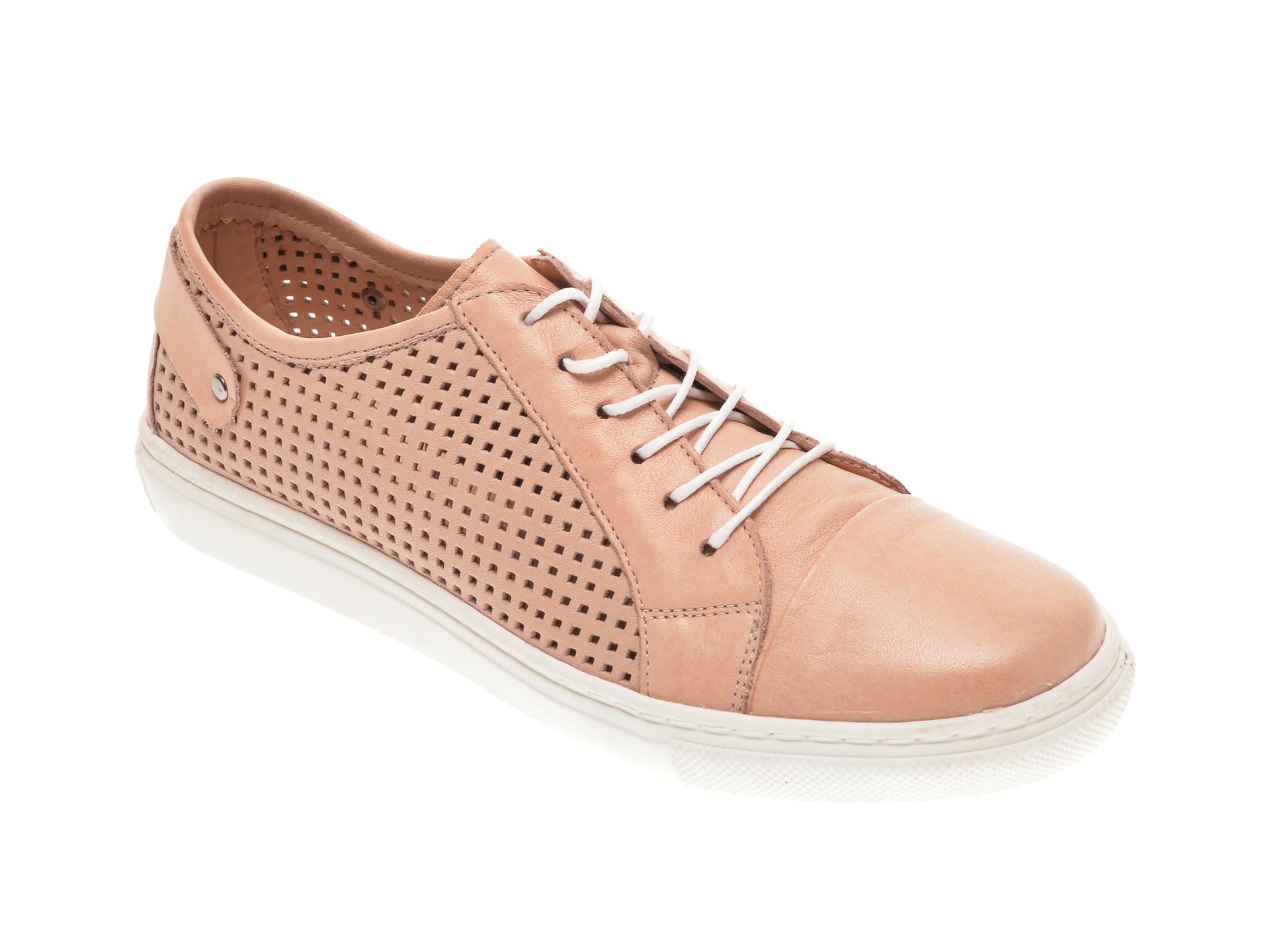 Pantofi BABOOS nude, R12, din piele naturala imagine