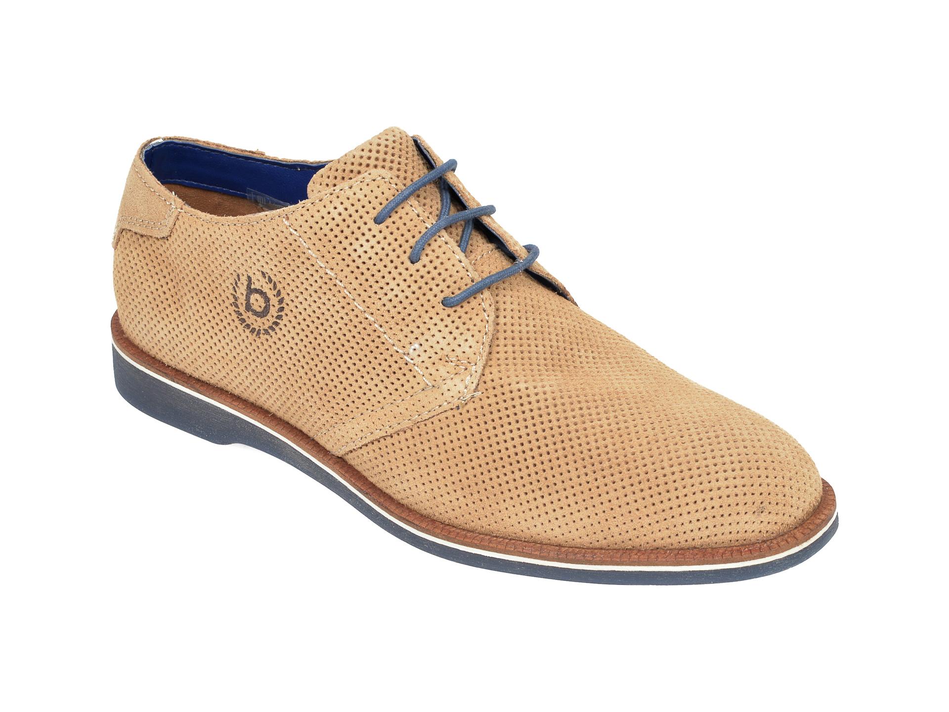 Pantofi BUGATTI maro, 64706, din piele intoarsa imagine