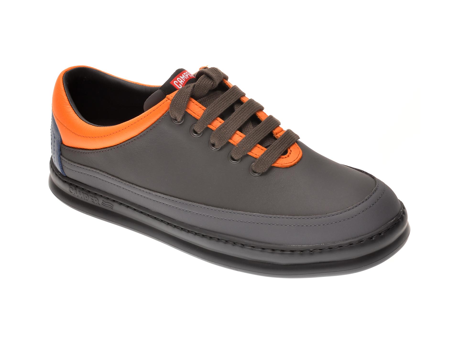 Pantofi Camper Gri, K100631, Din Piele Naturala