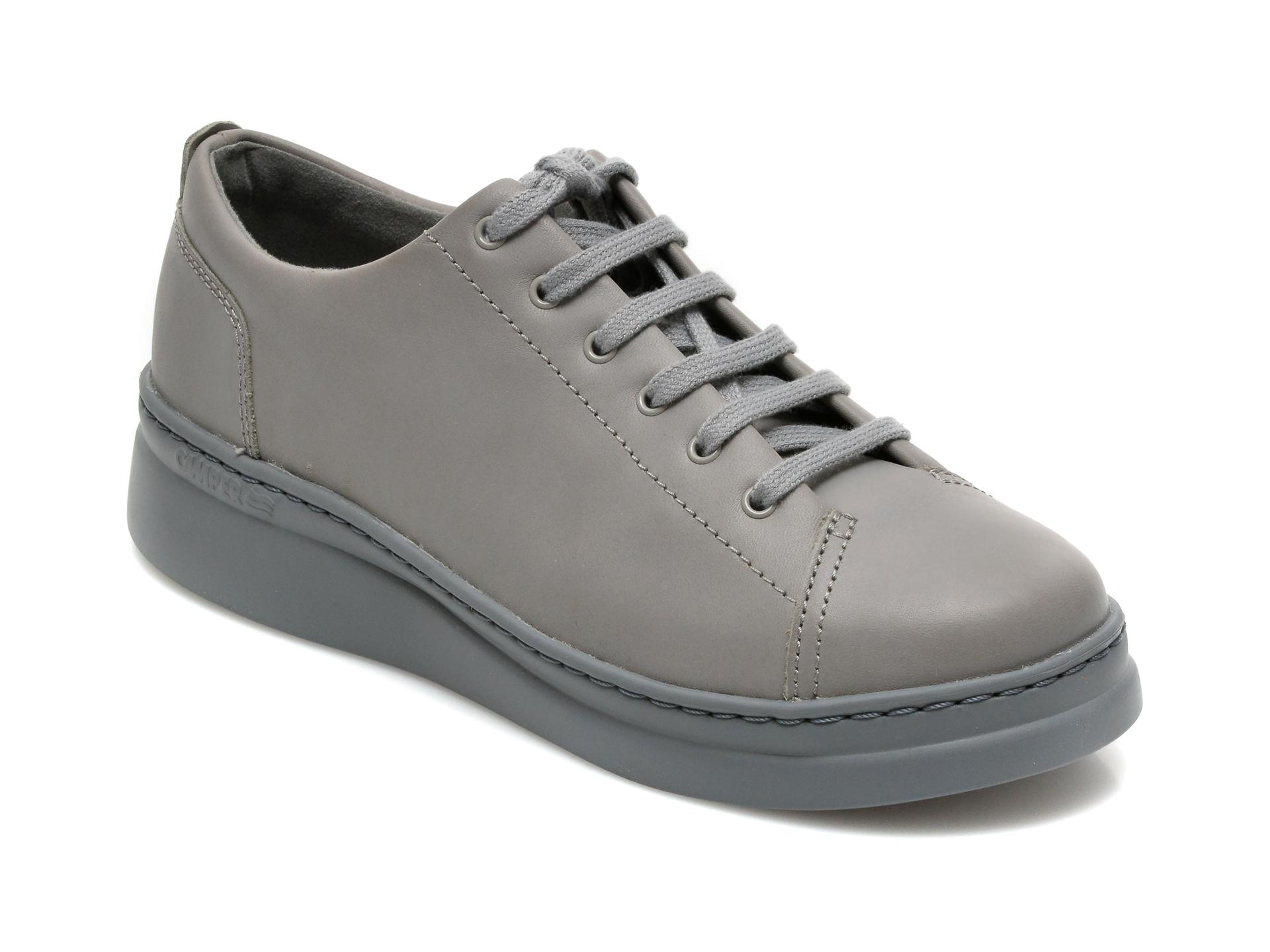Pantofi Camper Gri, K200645, Din Piele Naturala