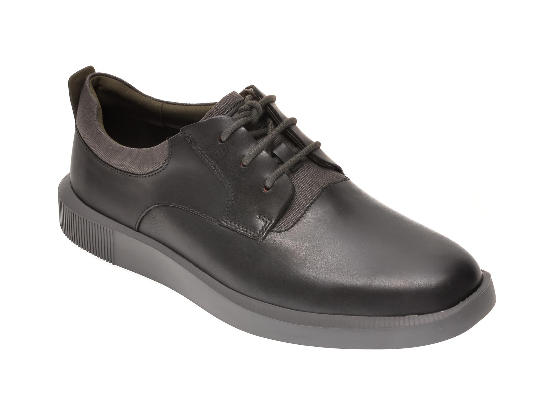 Pantofi CAMPER negri, K100655, din piele naturala