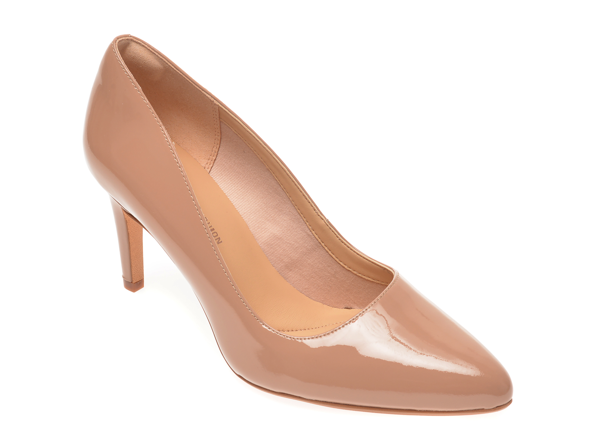 Pantofi CLARKS bej, Laina Rae, din piele naturala lacuita imagine
