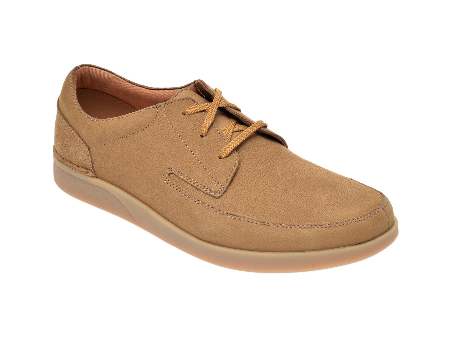 Pantofi CLARKS maro, Oakland Craft, din nabuc