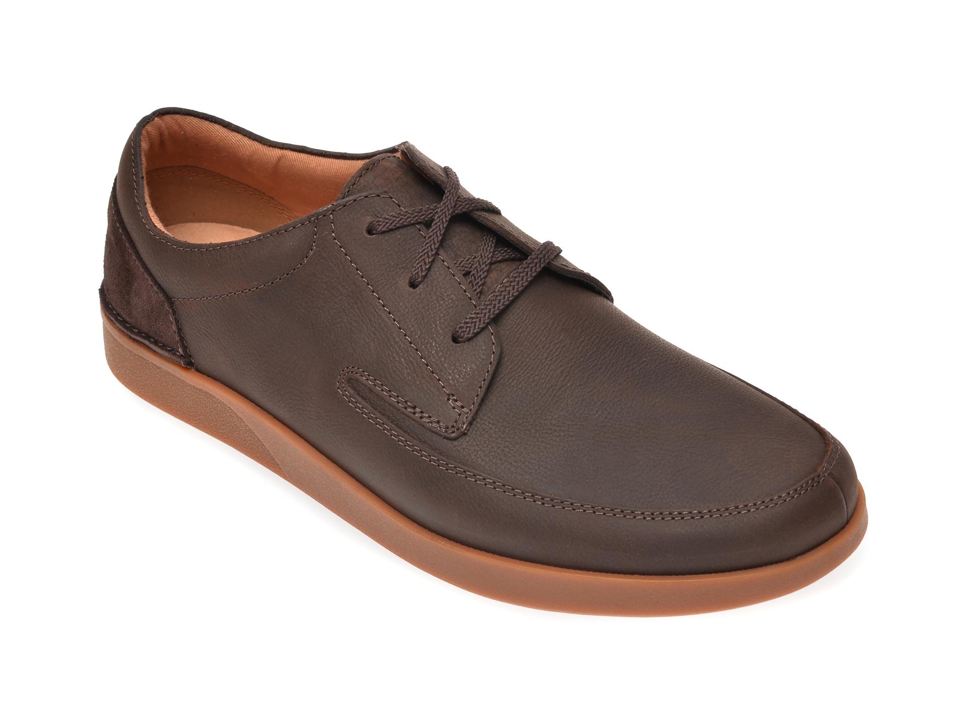 Pantofi CLARKS maro, Oakland Craft, din piele naturala