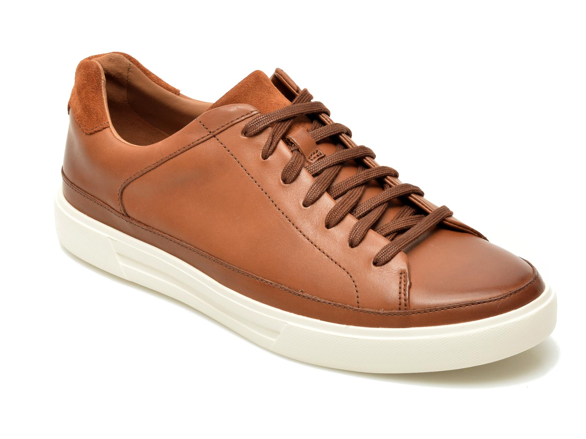Pantofi Clarks Maro, Un Costa Tie, Din Piele Naturala