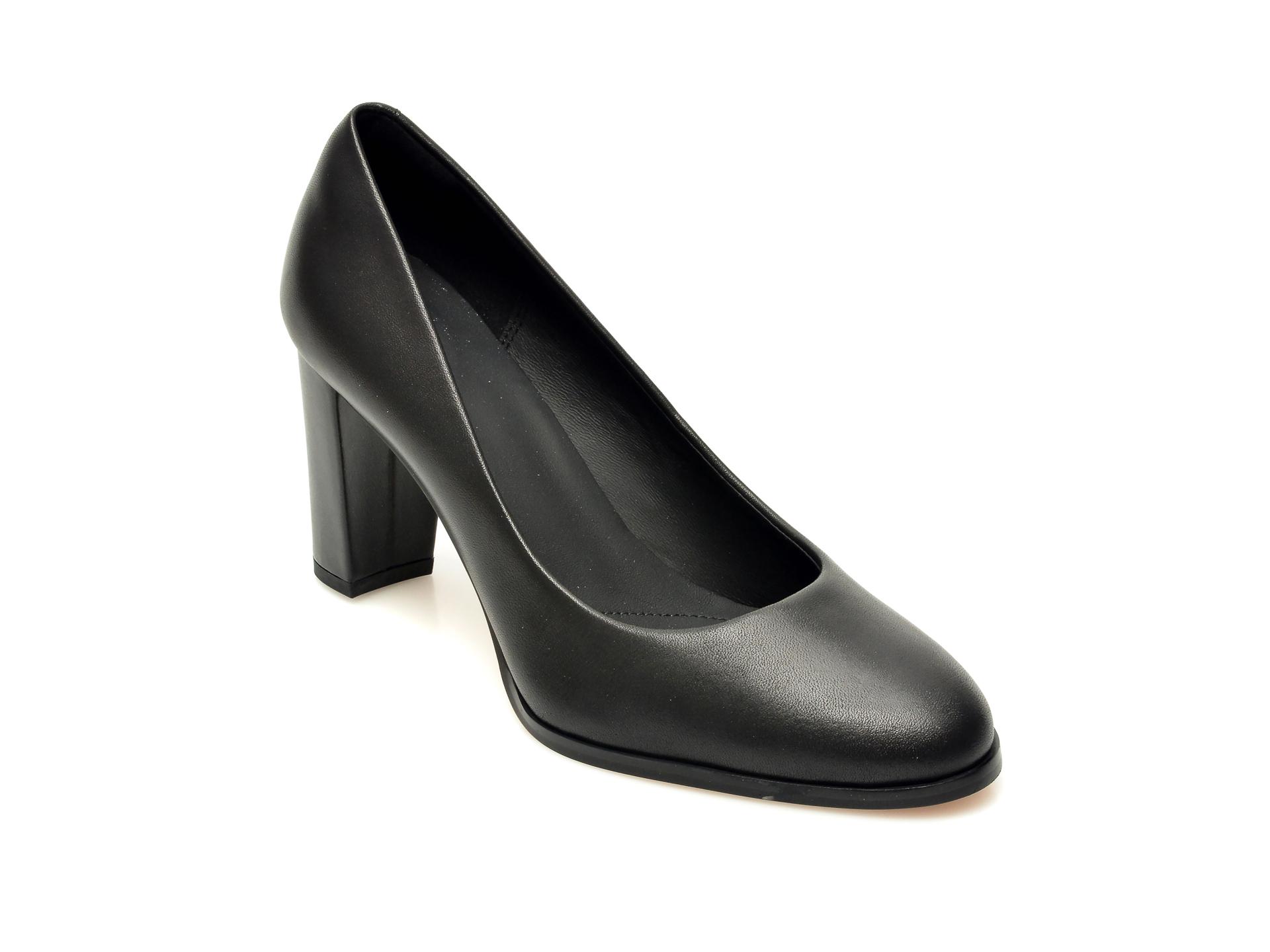 Pantofi CLARKS negri, SHEER ROSE, din piele naturala