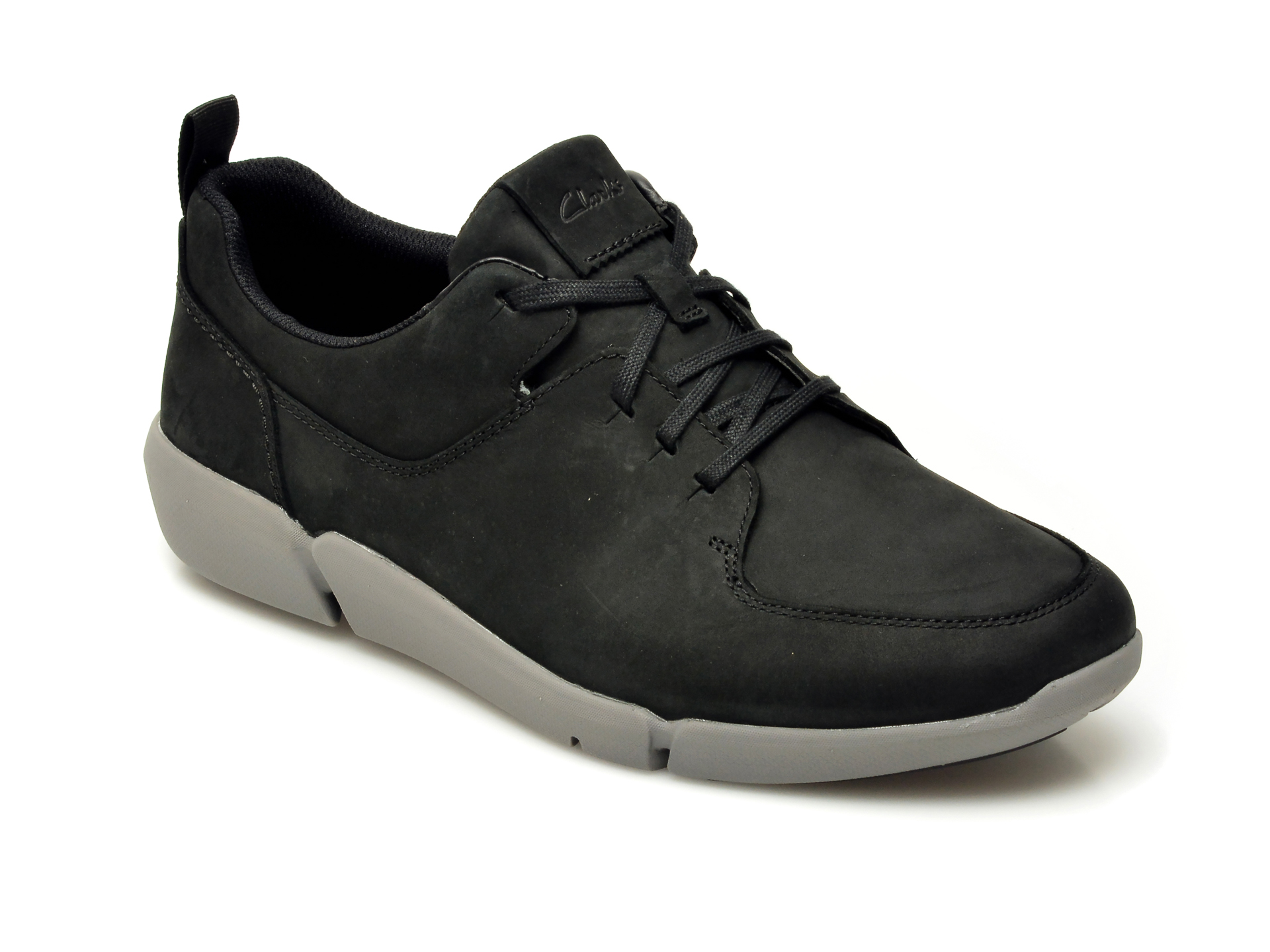 Pantofi CLARKS negri, HERO AIR LACE, din nabuc