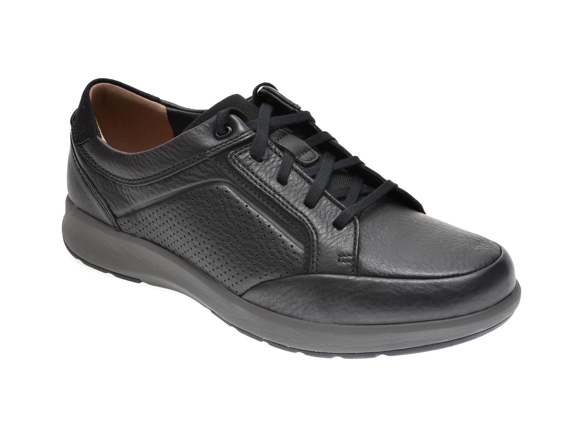 Pantofi CLARKS negri, UN LARVIK LACE, din piele naturala