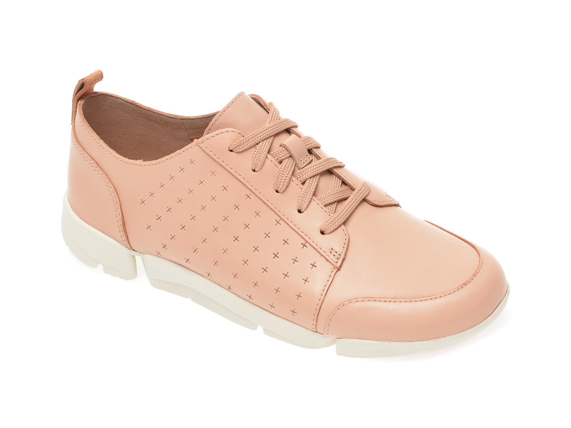 Pantofi vara CLARKS nude, Un Rio Tie, din piele naturala