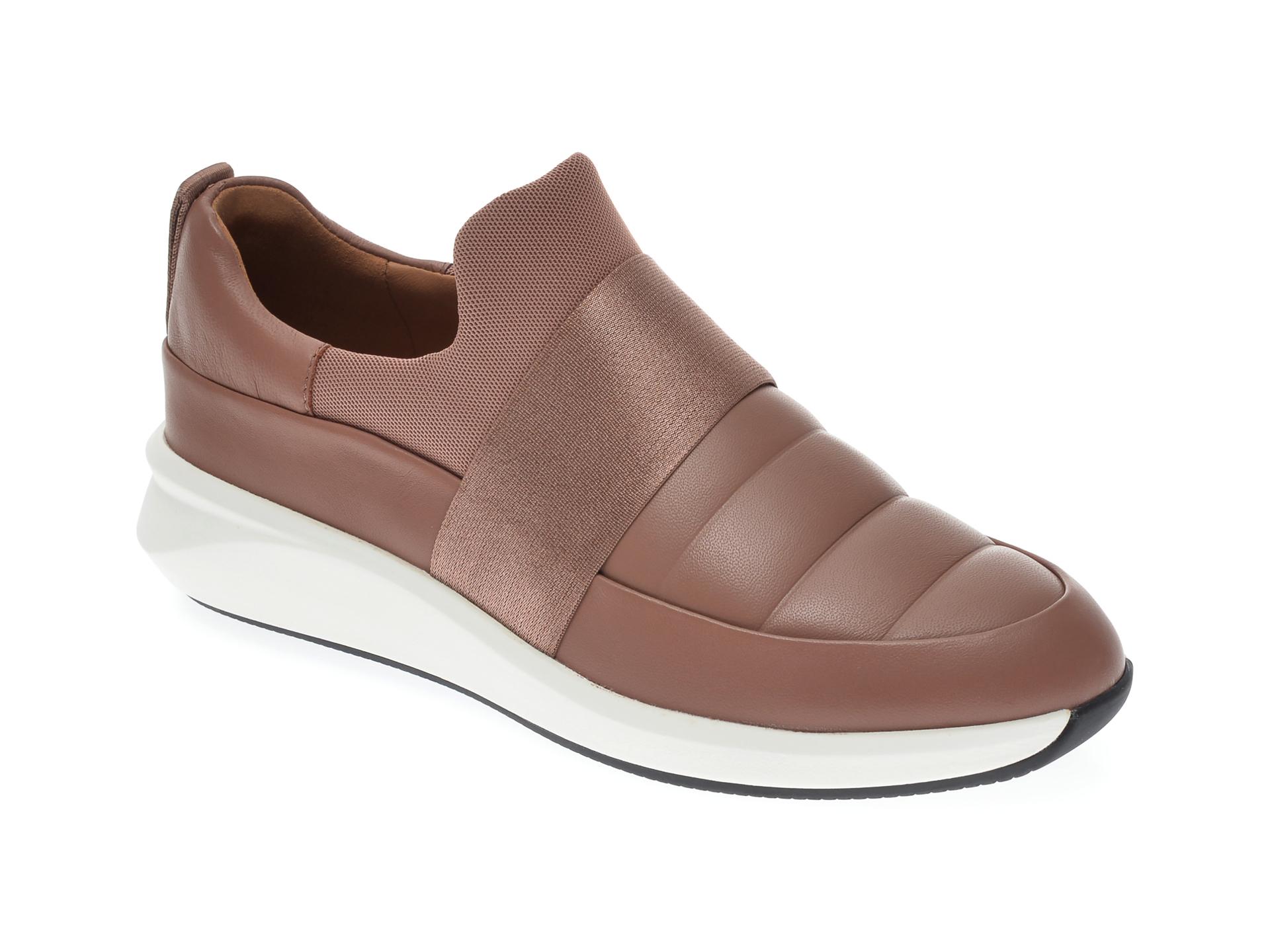 Pantofi CLARKS nude, UN RIO LO, din piele naturala