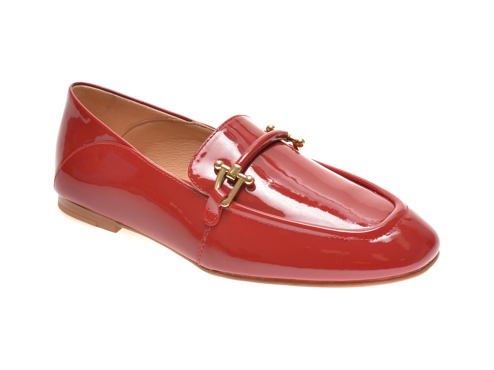 Pantofi CLARKS rosii, KAYLIN CARA, din piele naturala lacuita