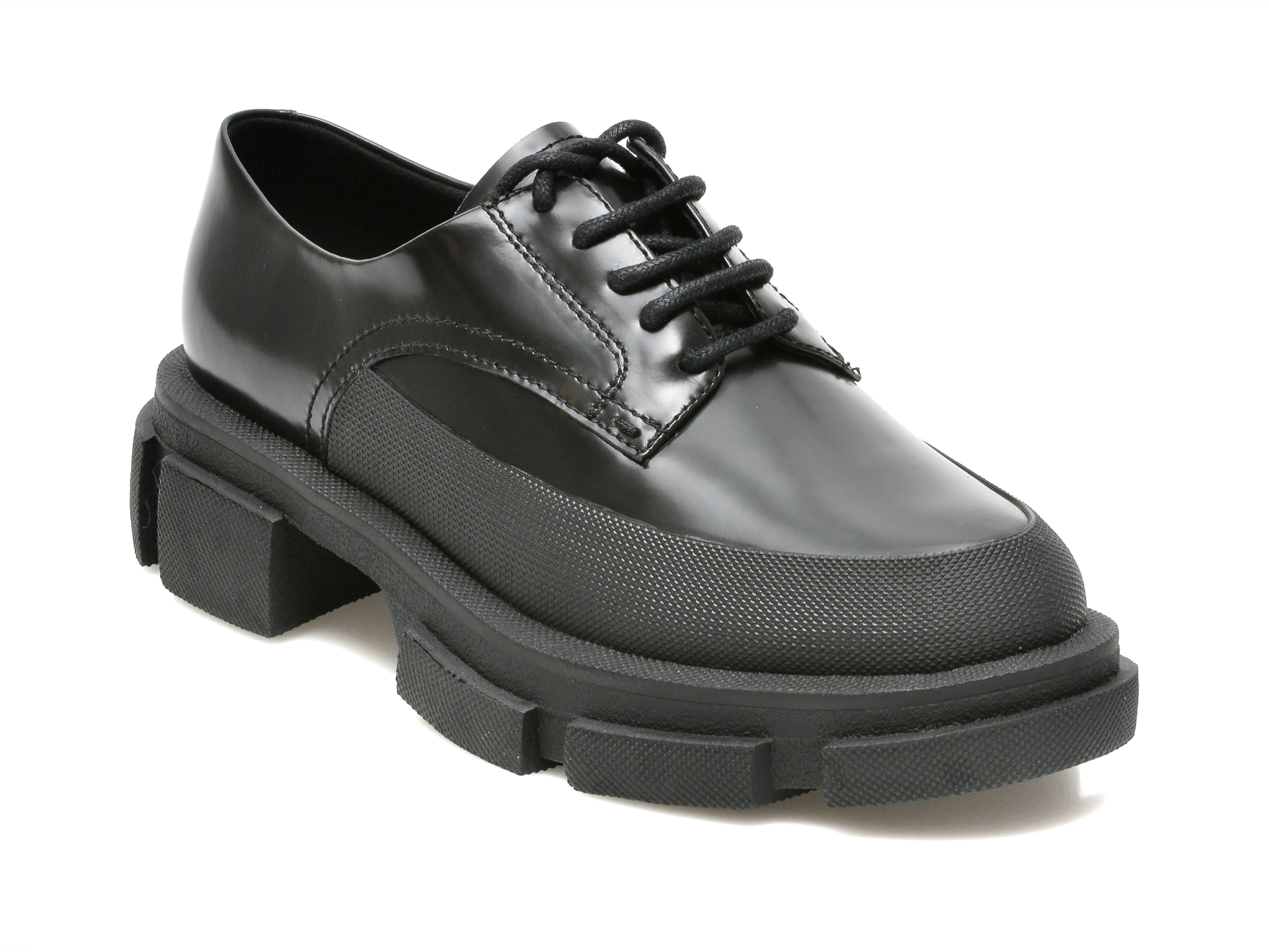 Pantofi Epica Negri, 016891e, Din Piele Naturala