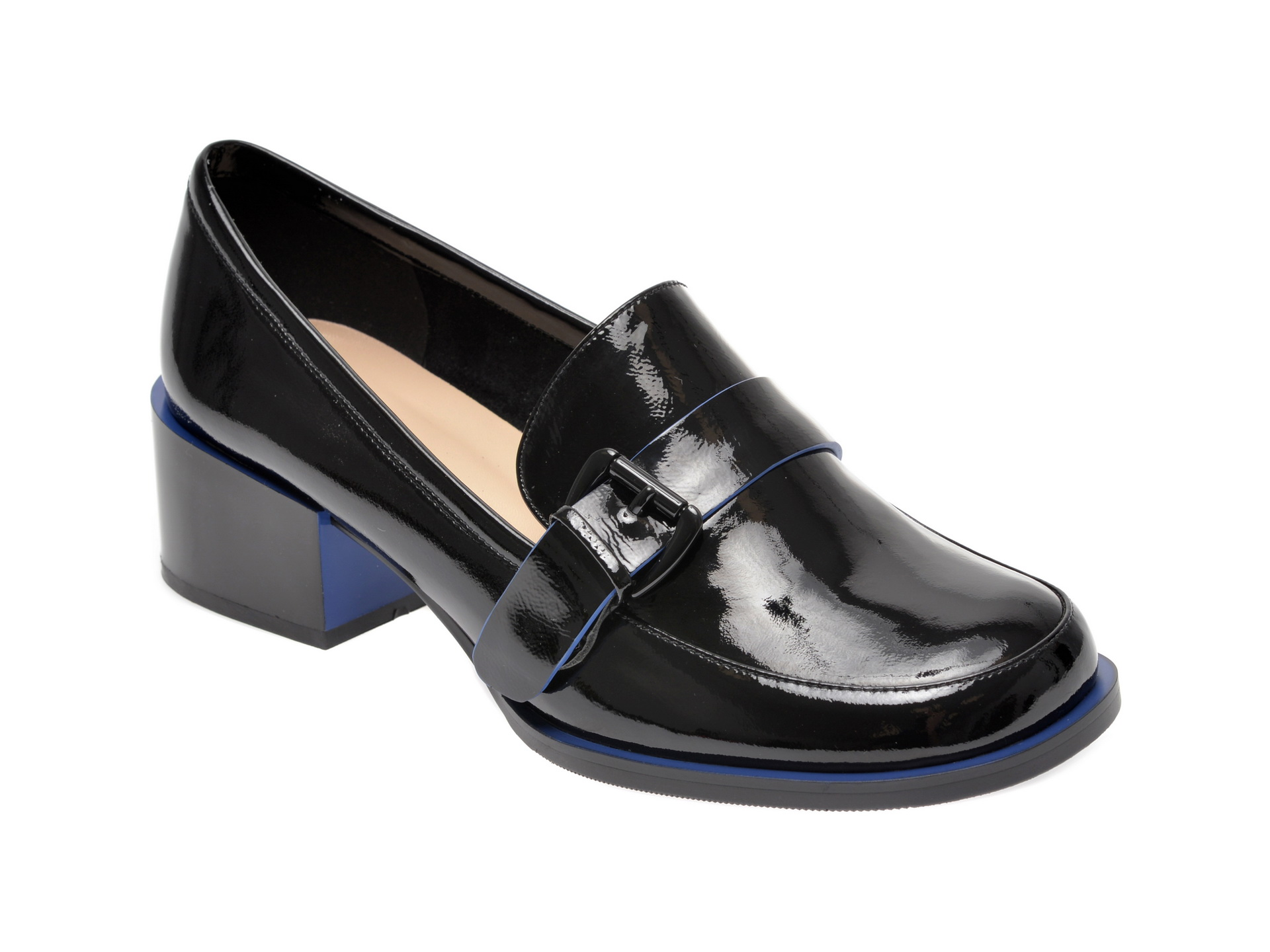 Pantofi EPICA negri, 17J3520, din piele naturala lacuita imagine
