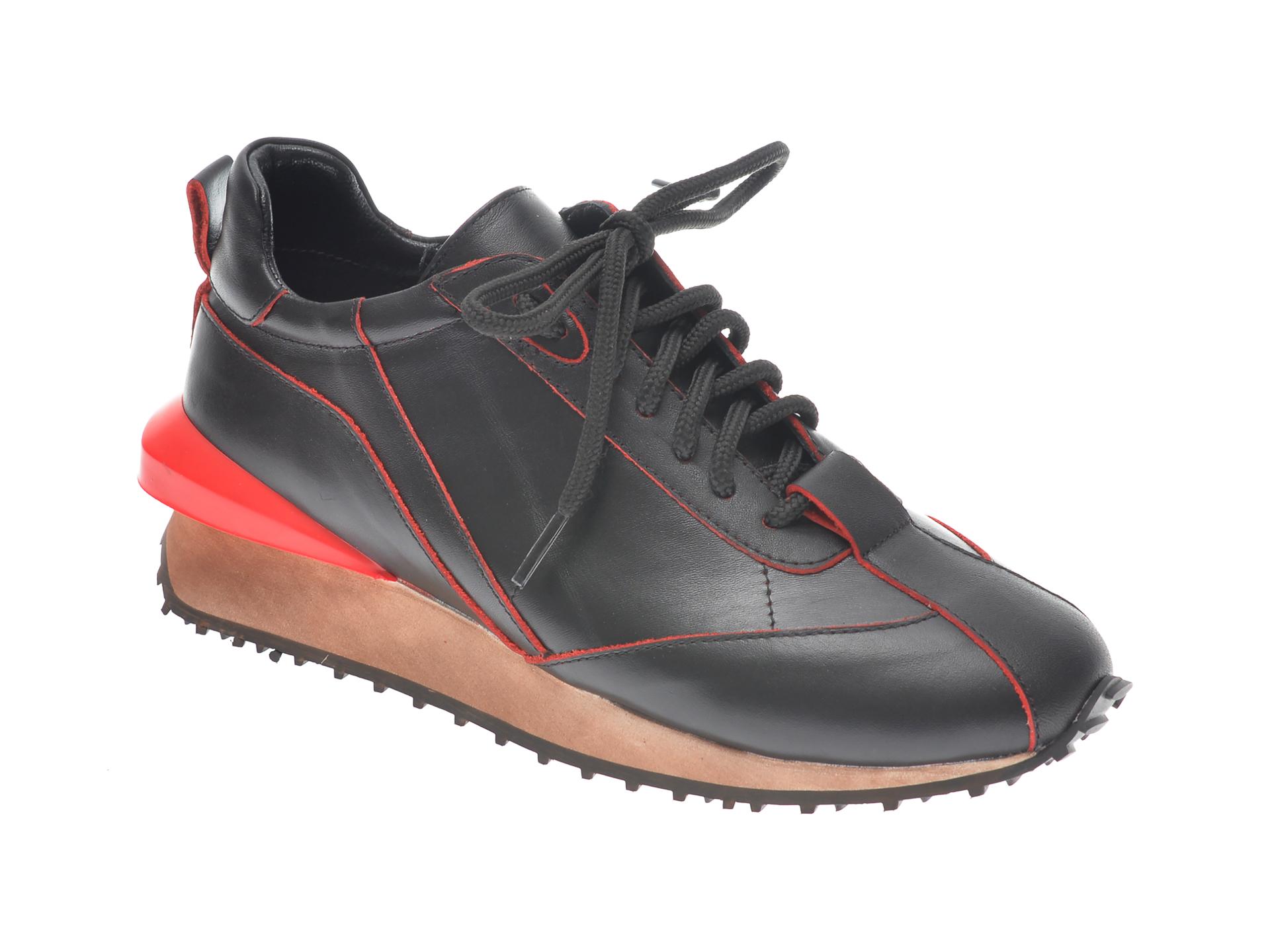 Pantofi EPICA negri, B1075, din piele naturala