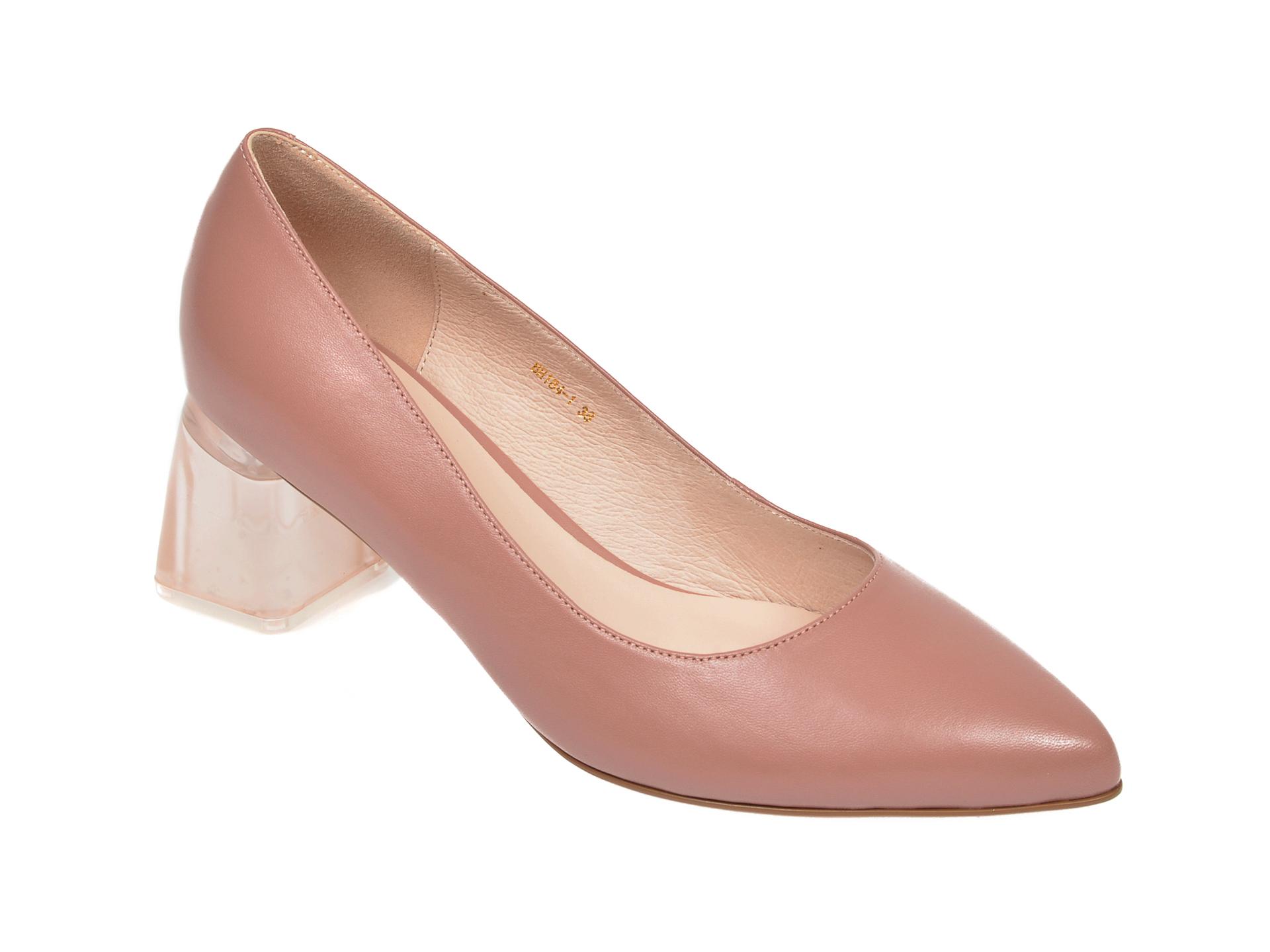 Pantofi EPICA nude, BH184, din piele naturala