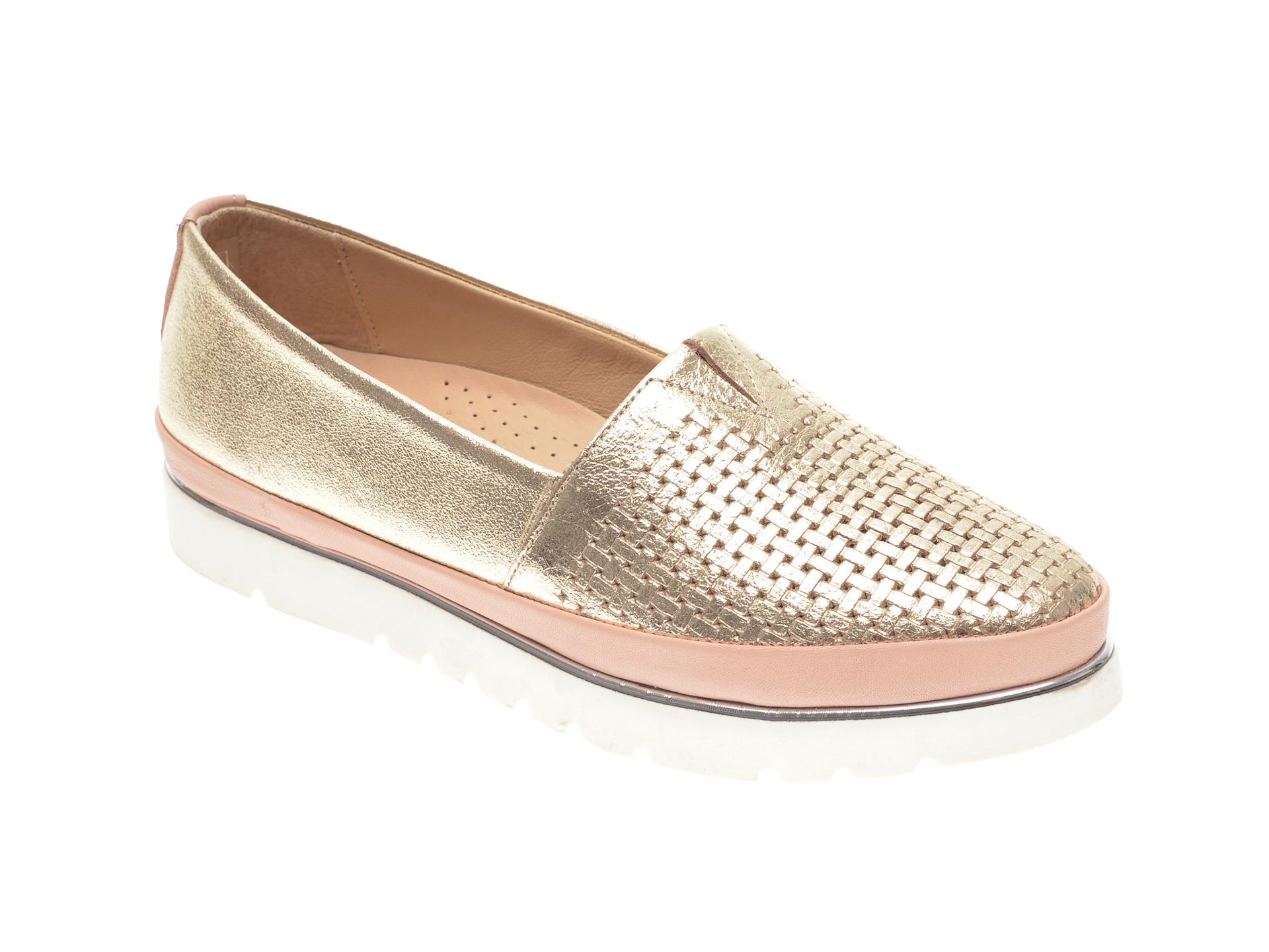 Pantofi FLAVIA PASSINI aurii, 14400, din piele naturala imagine