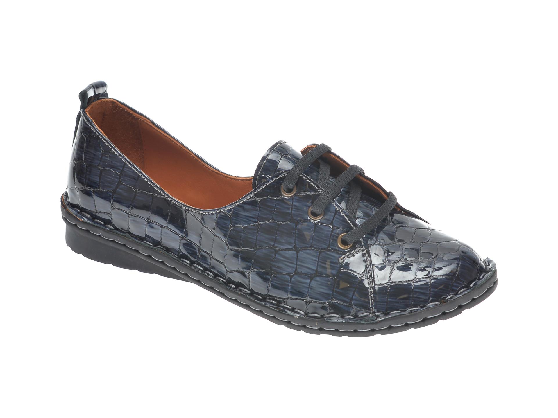 Pantofi FLAVIA PASSINI bleumarin, 952422, din piele croco imagine