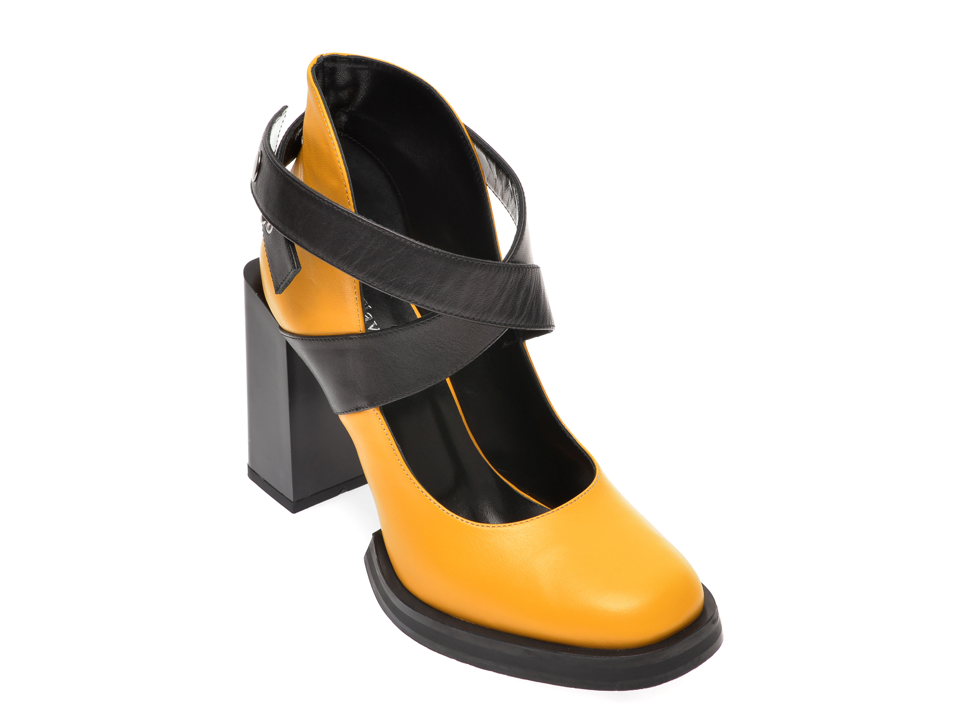 Pantofi FLAVIA PASSINI galbeni, 4070VER, din piele naturala