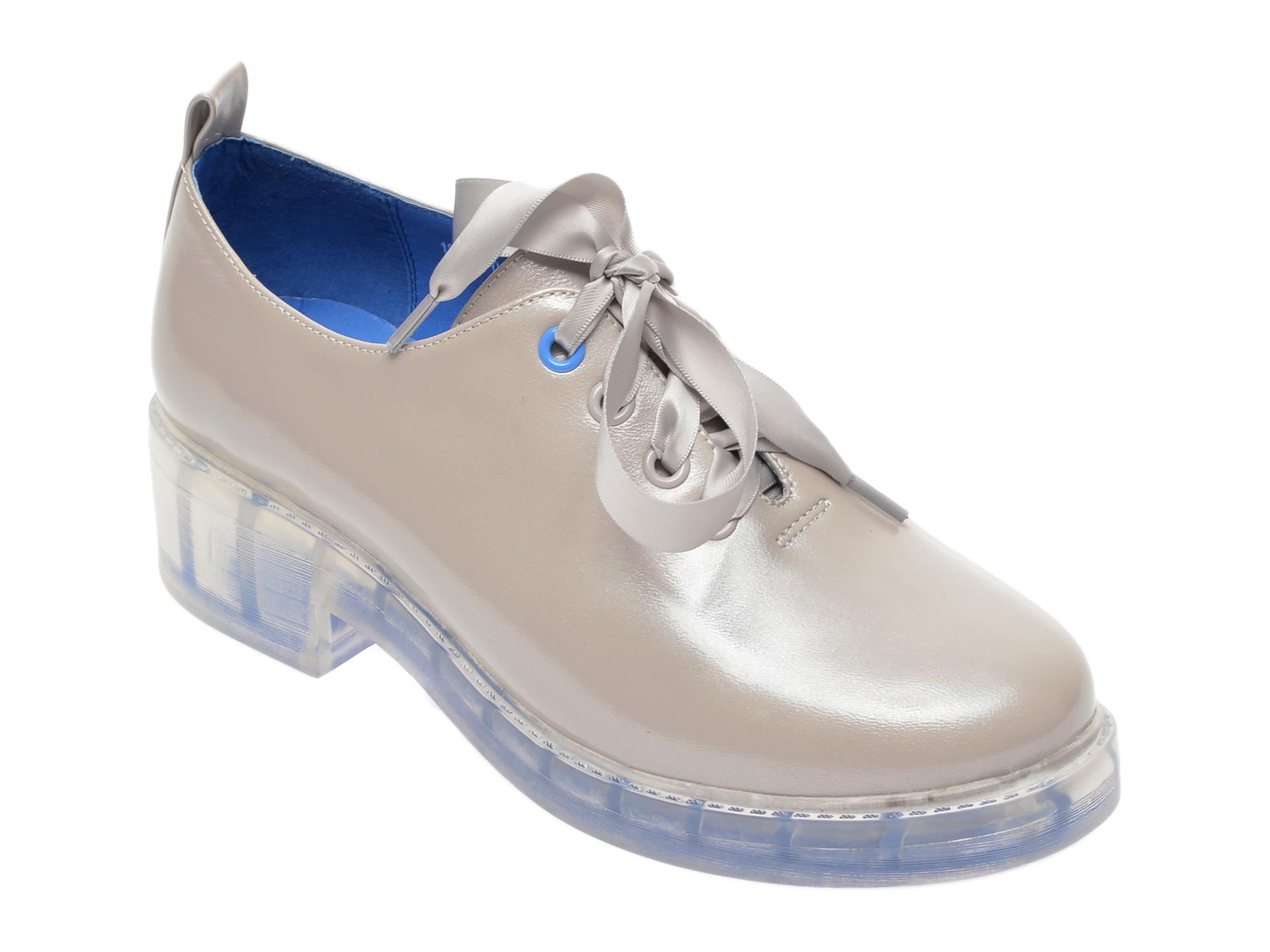 Pantofi Flavia Passini Gri, 18j2800, Din Piele Naturala