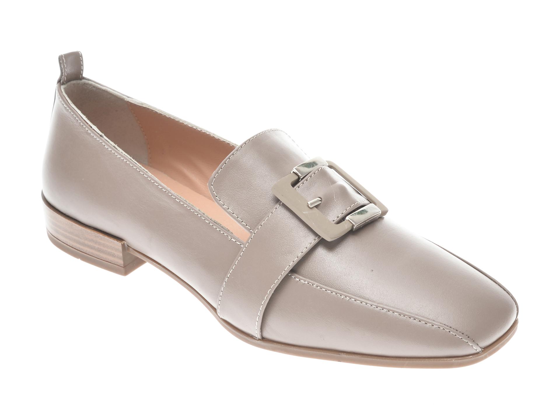 Pantofi Flavia Passini Gri, 22209, Din Piele Naturala