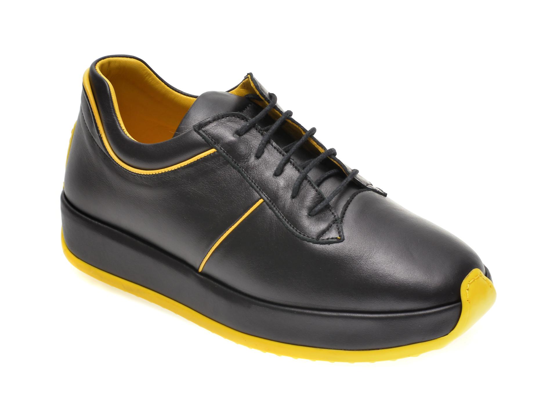 Pantofi Flavia Passini Negri, 1692095, Din Piele Naturala