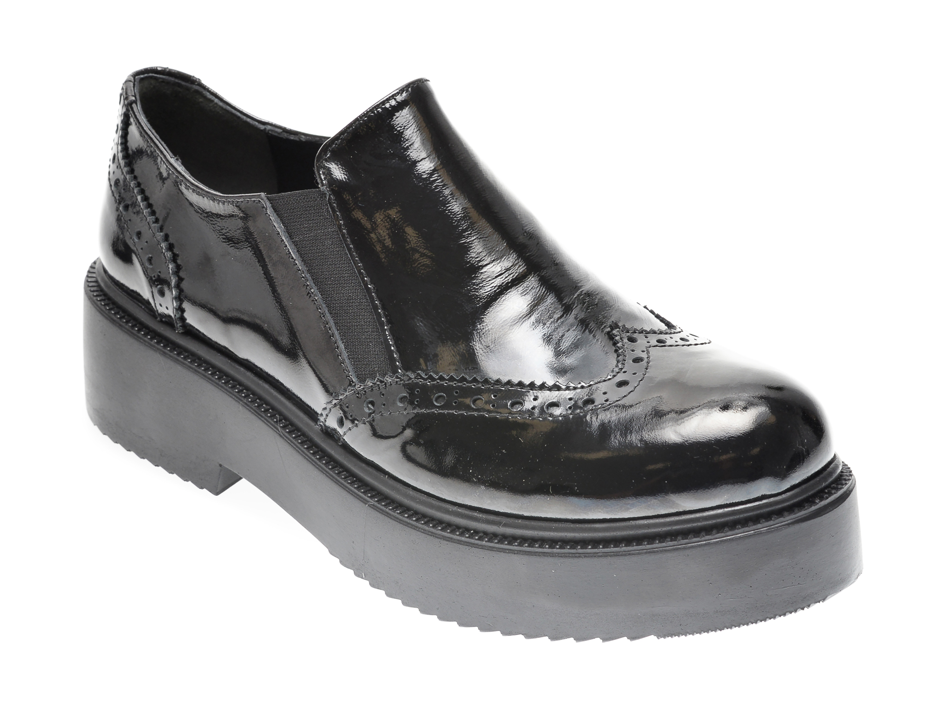 Pantofi FLAVIA PASSINI negri, 294333, din piele naturala lacuita imagine
