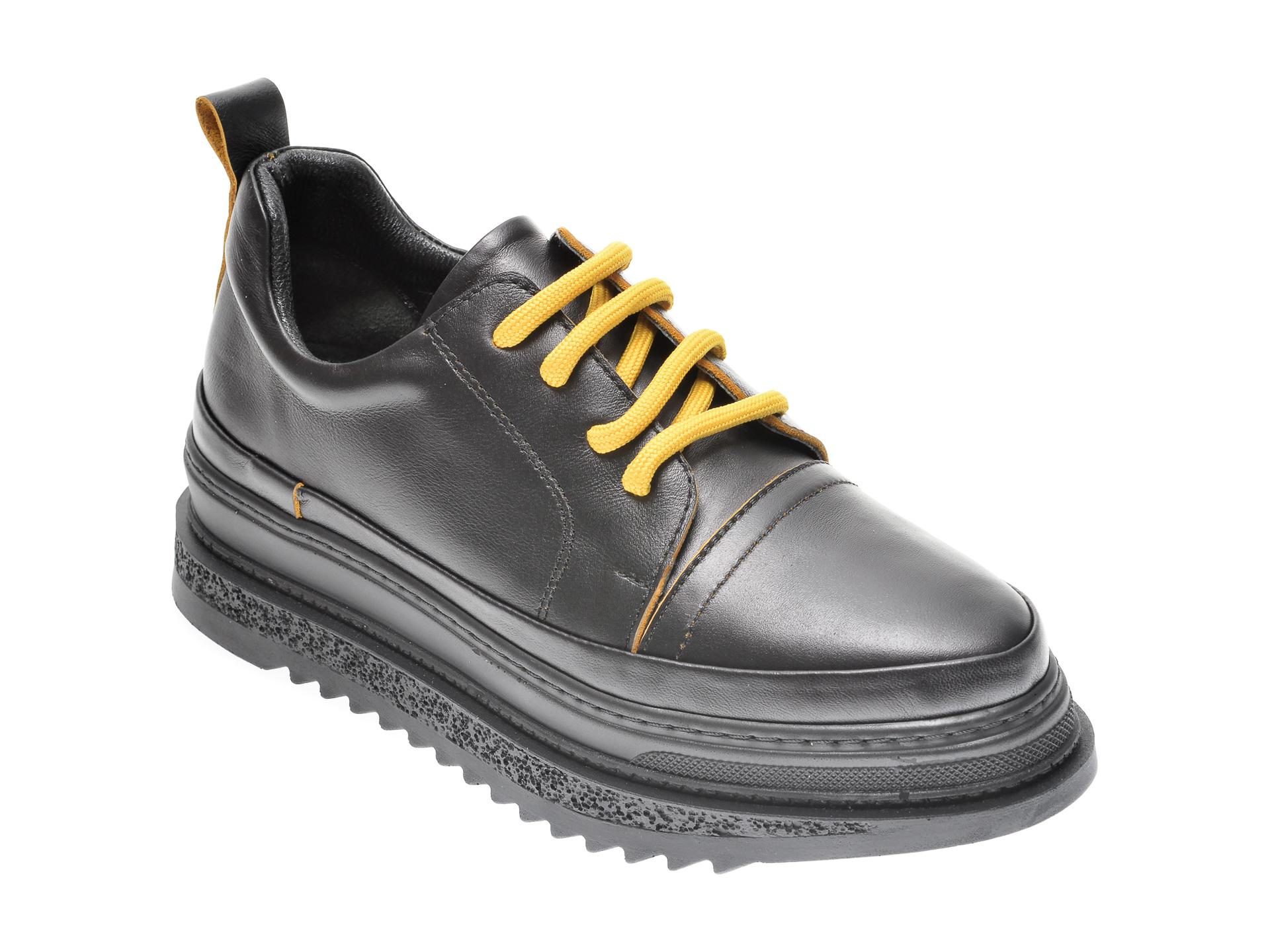 Pantofi Flavia Passini Negri, 2947278, Din Piele Naturala