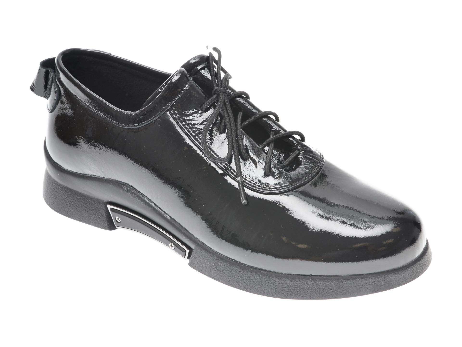 Pantofi FLAVIA PASSINI negri, 34781M3, din piele naturala lacuita imagine