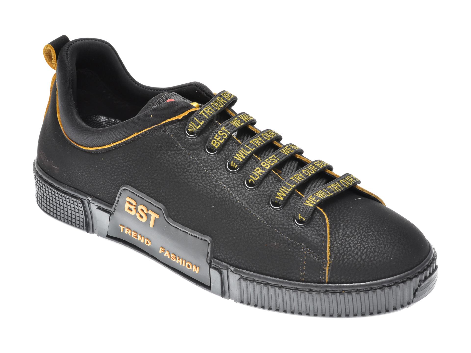 Pantofi sport LIU JO negri, Maxiale, din material textil si piele naturala
