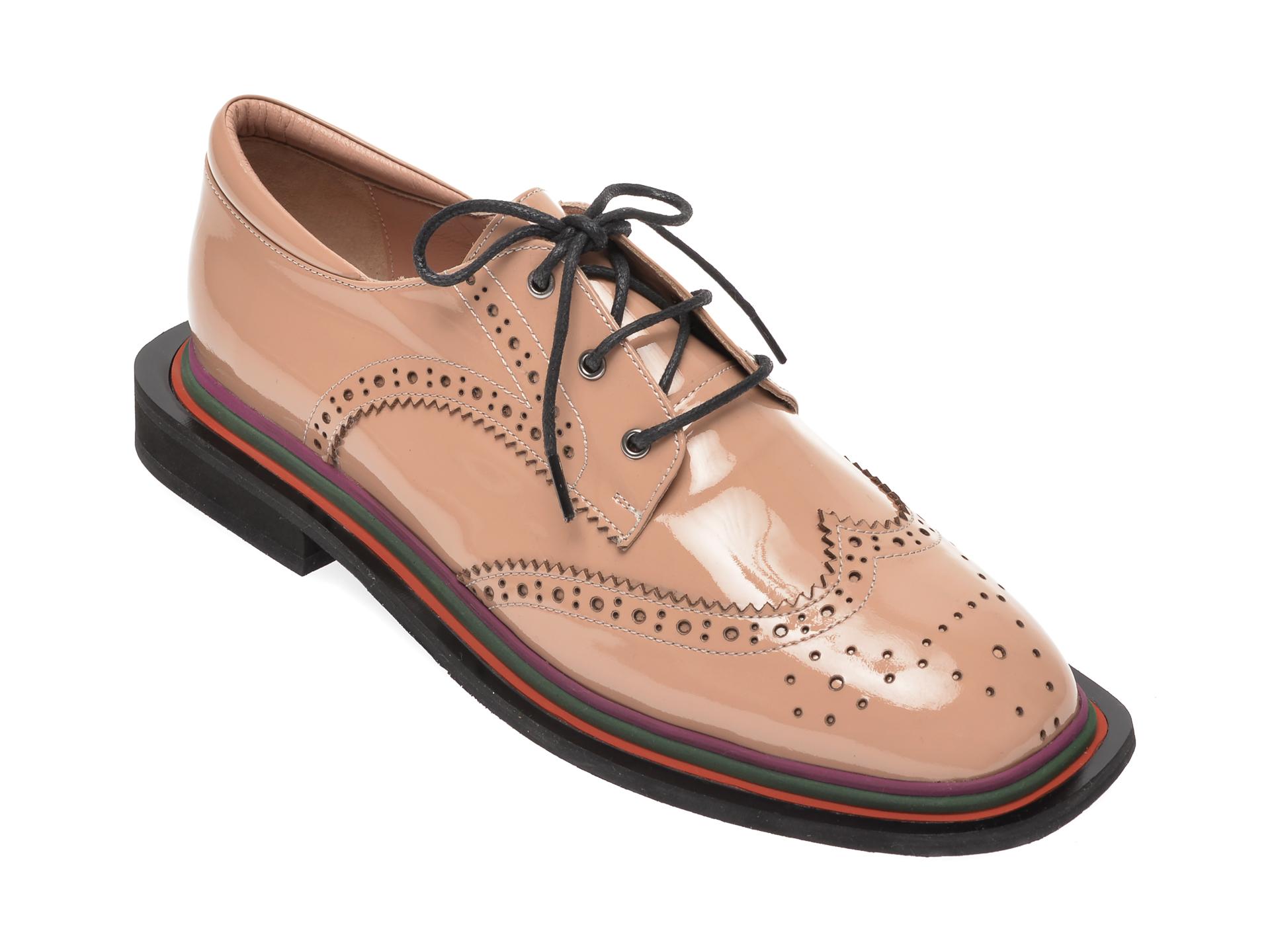 Pantofi FLAVIA PASSINI nude, 870BAN, din piele naturala lacuita