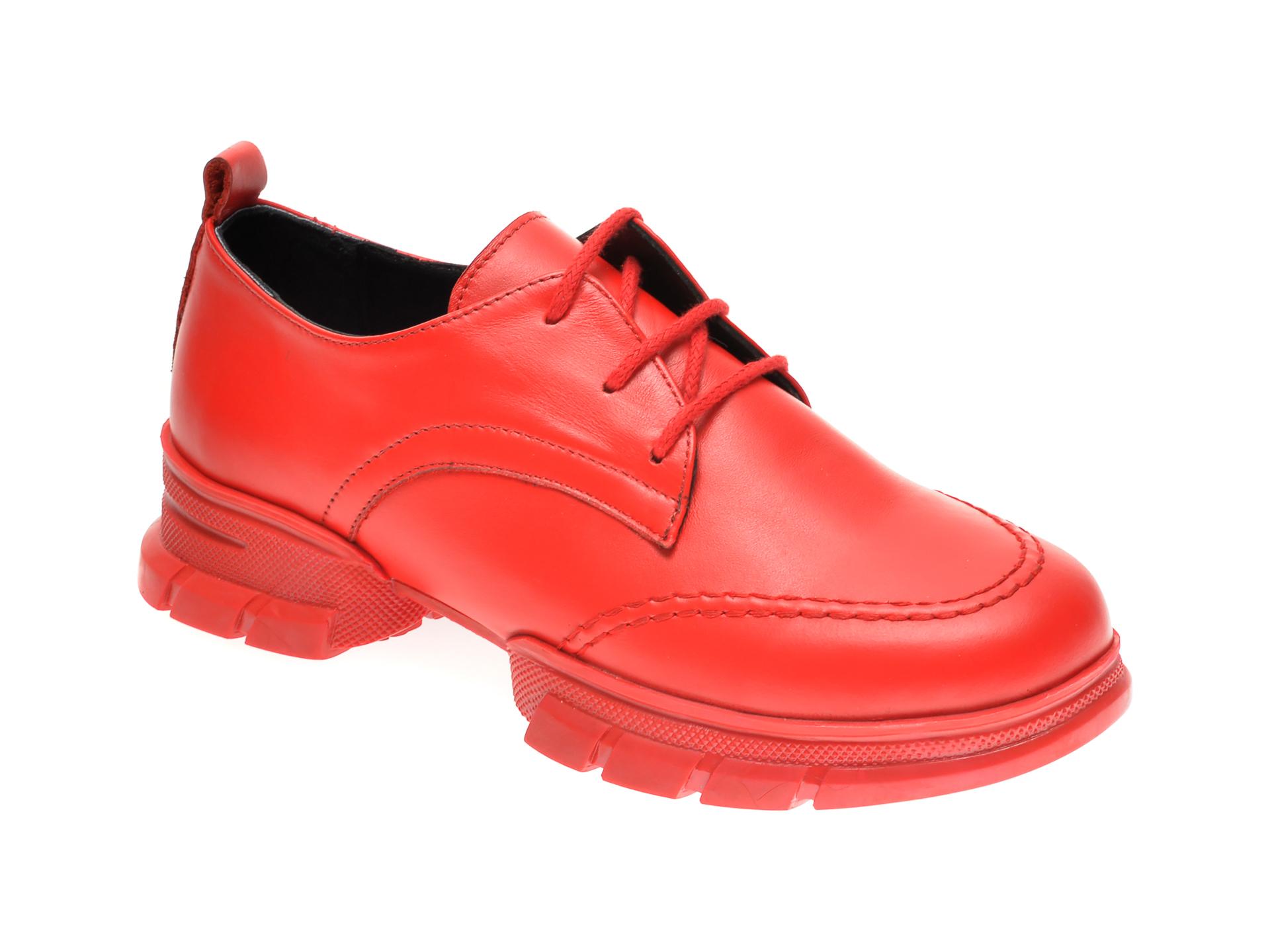 Pantofi Flavia Passini Rosii, 297063, Din Piele Naturala