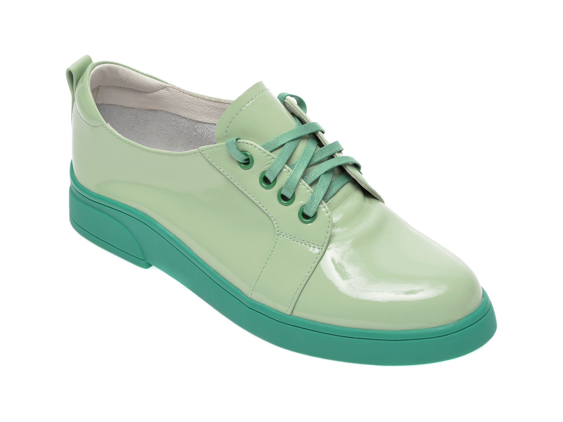 Pantofi FLAVIA PASSINI verzi, FH92256, din piele naturala lacuita