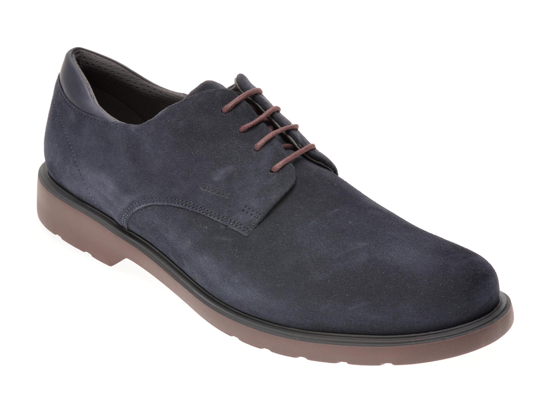Pantofi sport GEOX bleumarin, D028LA, din material textil si piele naturala